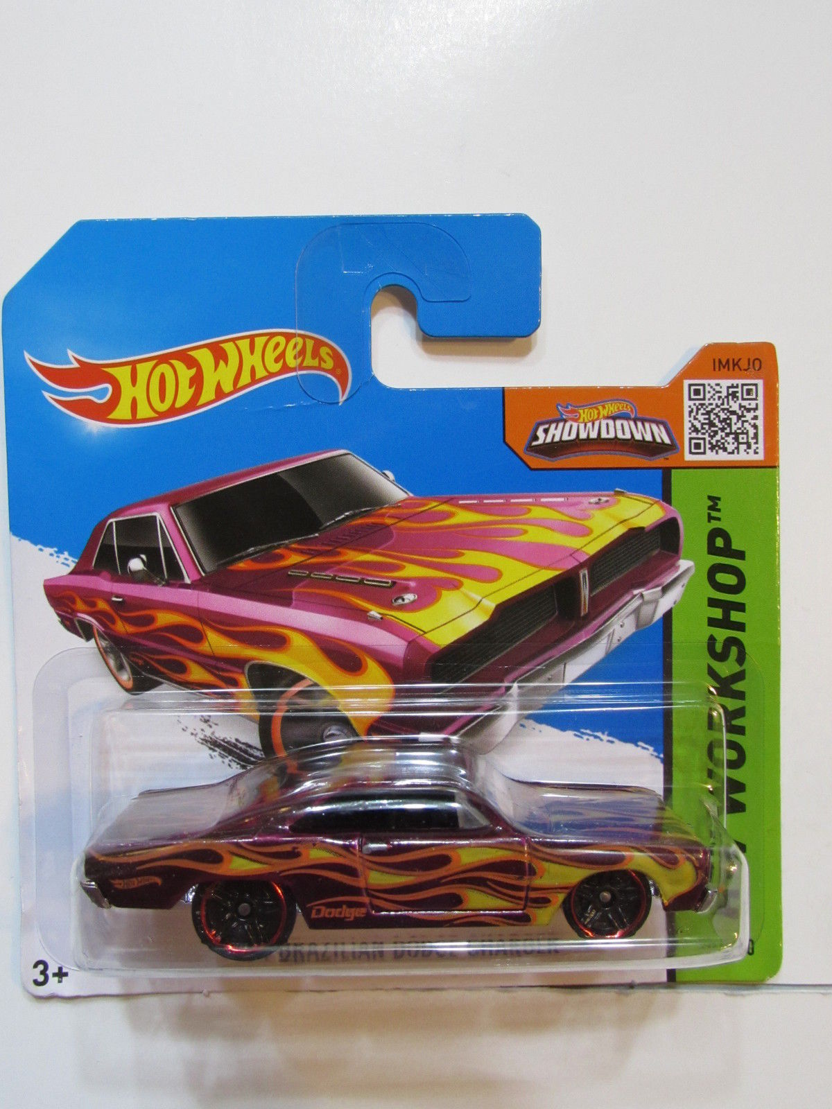 HOT WHEELS 2015 HW WORKSHOP 74 BRAZILIAN DODGE CHARGER SHORT CARD