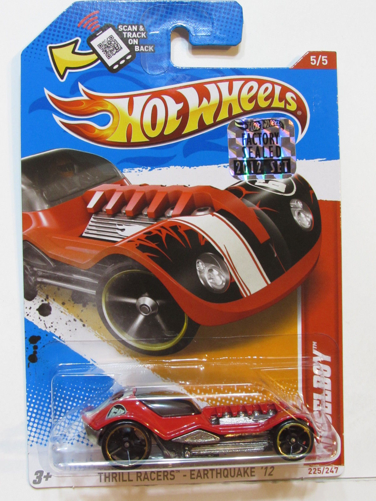 HOT WHEELS 2012 THRILL RACERS EARTHQUAKE DIESELBOY FACTORY SEALED