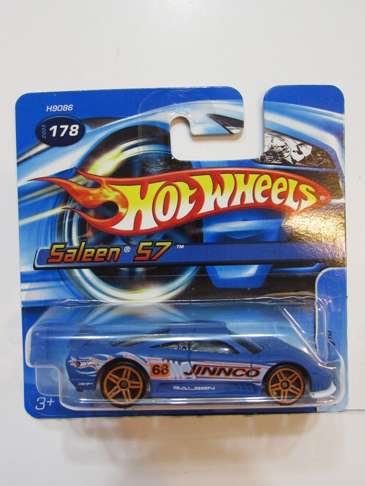 HOT WHEELS 2005 SALEEN S7 BLUE #178 SHORT CARD