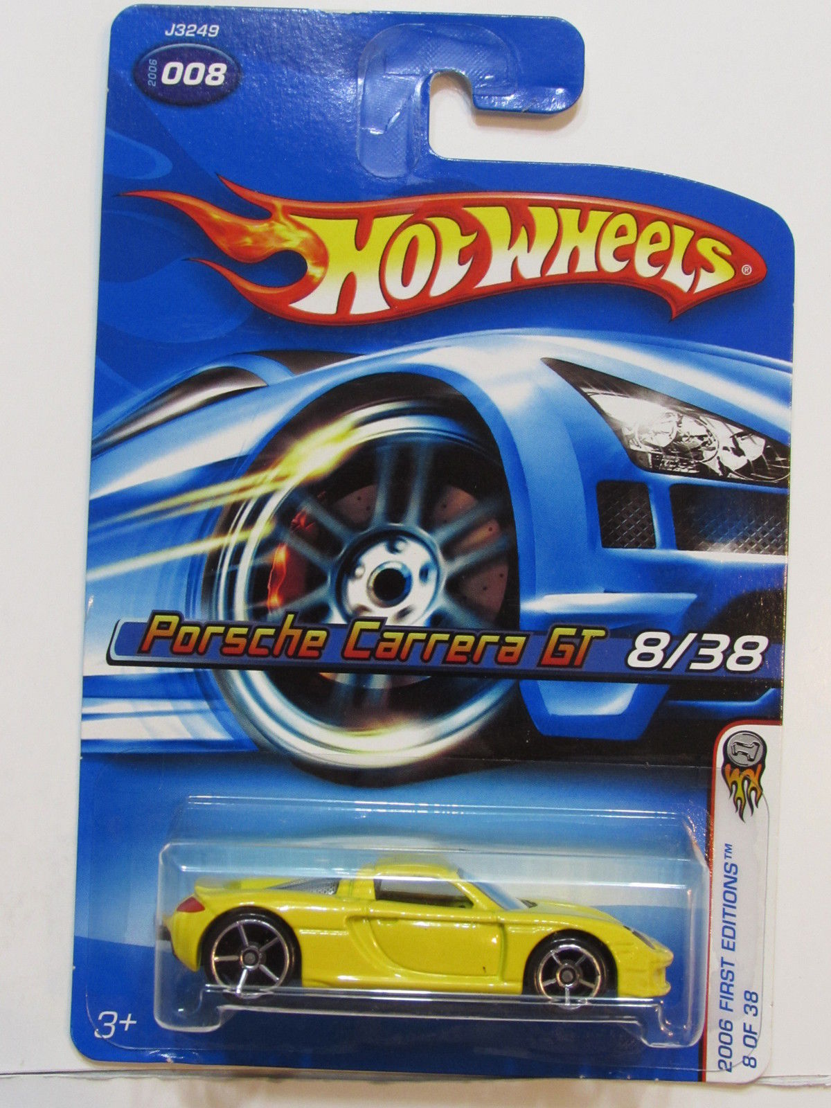 HOT WHEELS 2006 FIRST EDITIONS PORSCHE CARRERA GT #008 YELLOW