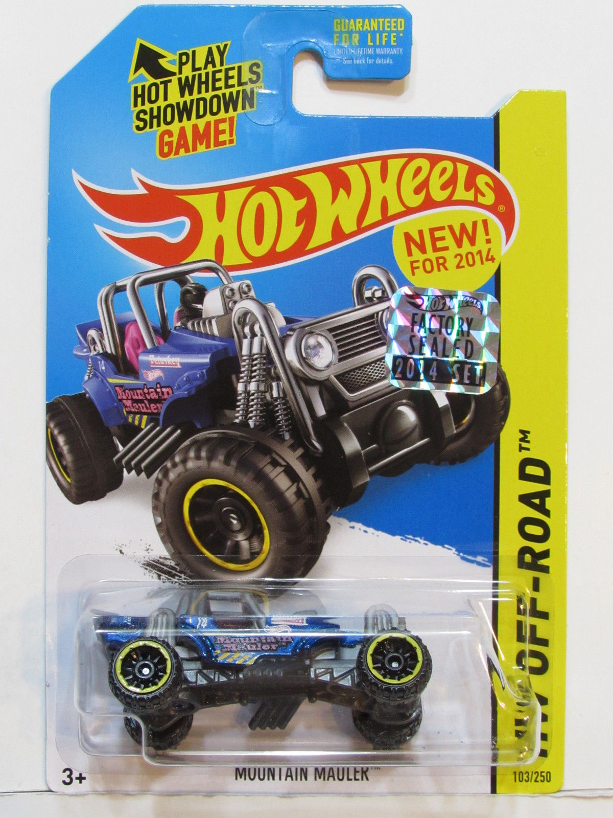 HOT WHEELS 2014 HW OFF ROAD MOUNTAIN MAULER FACTORY SEALED