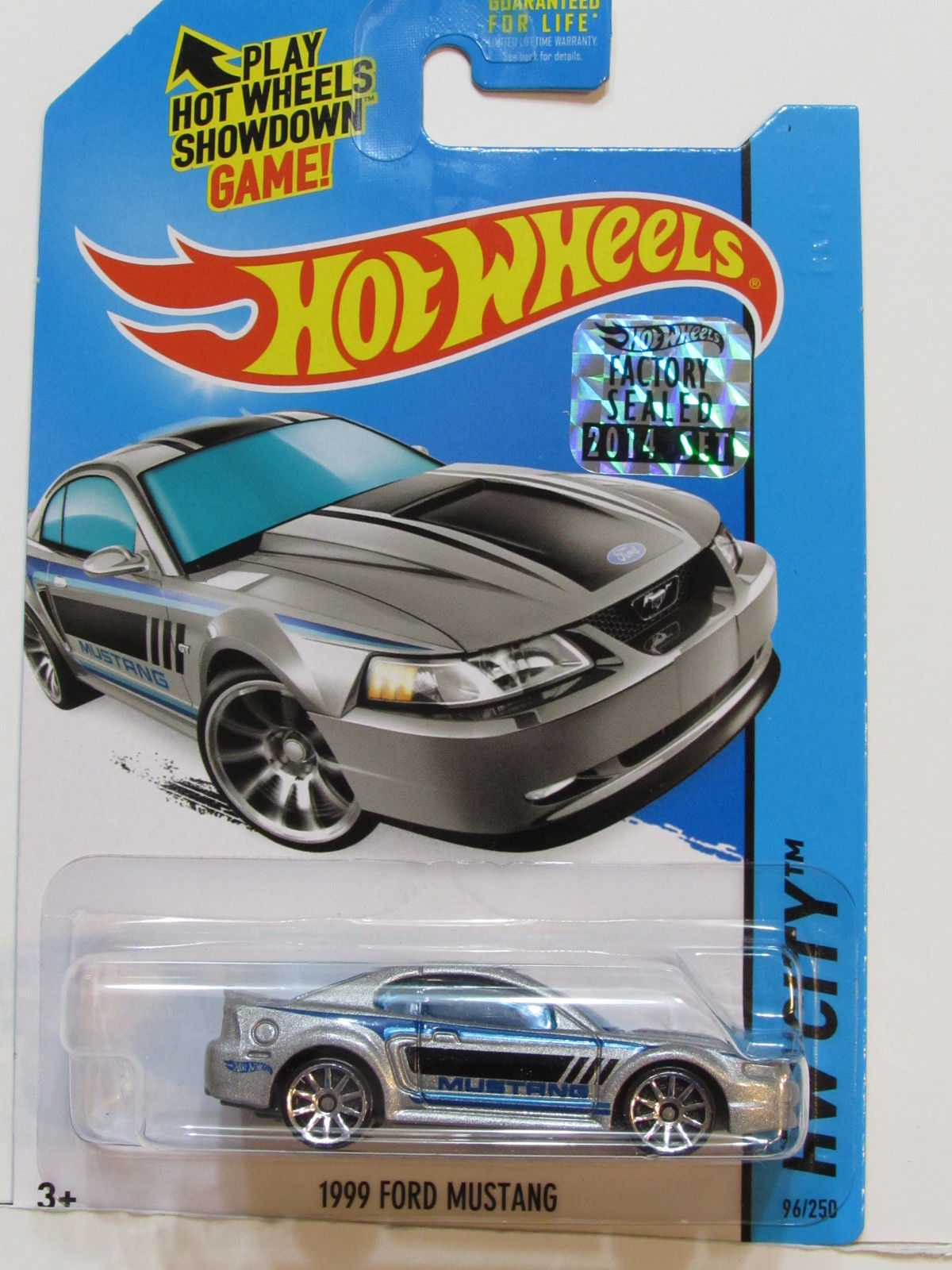 HOT WHEELS 2014 HW CITY 1999 FORD MUSTANG SILVER FACTORY SEALED