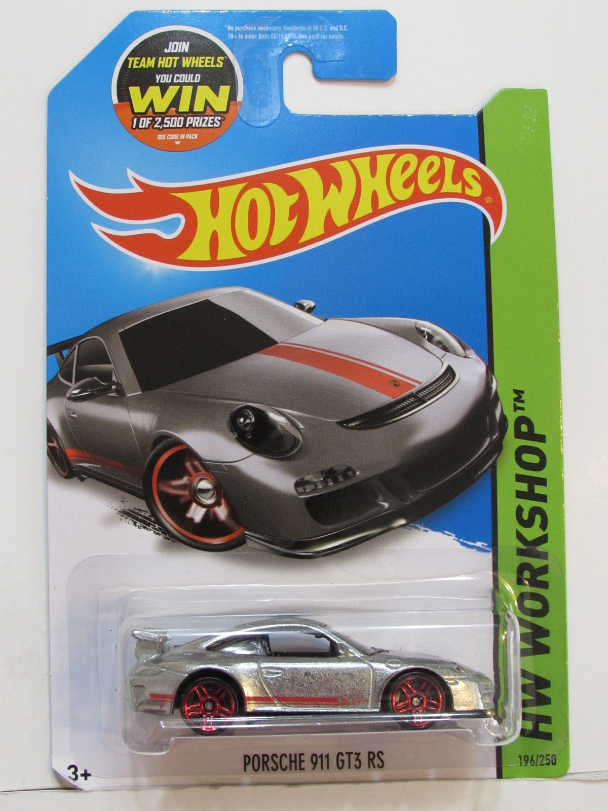 HOT WHEELS 2015 HW WORKSHOP - NIGHT BURNERZ PORSCHE 911 GT3 RS ZAMAC