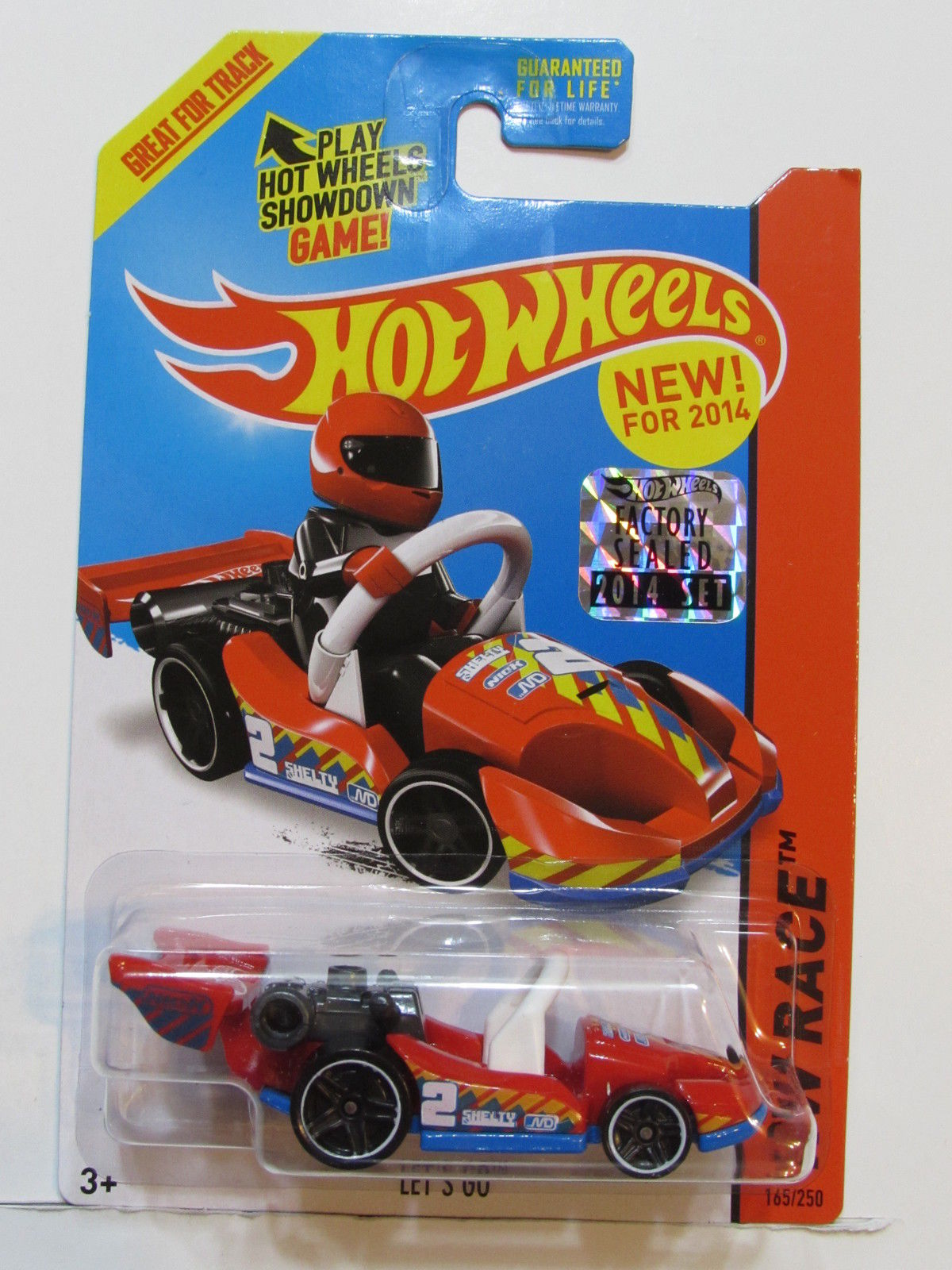 HOT WHEELS 2014 HW RACE LET'S GO FACTORY SEALED RED