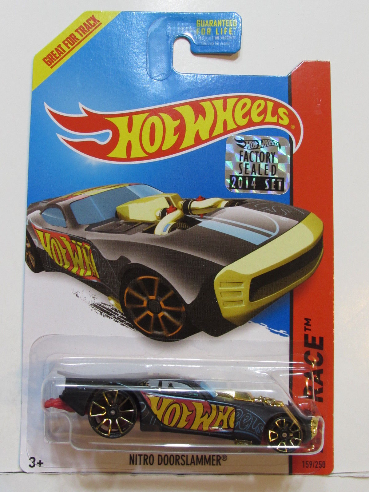 HOT WHEELS 2014 HW RACE NITRO DOORSLAMMER FACTORY SEALED BLACK