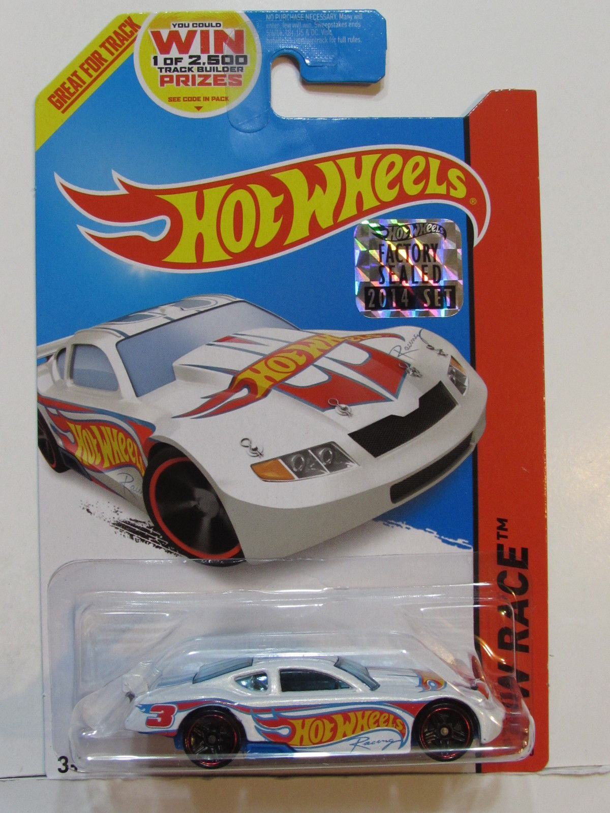 HOT WHEELS 2014 HW RACE CIRCLE TRACKER FACTORY SEALED WHITE