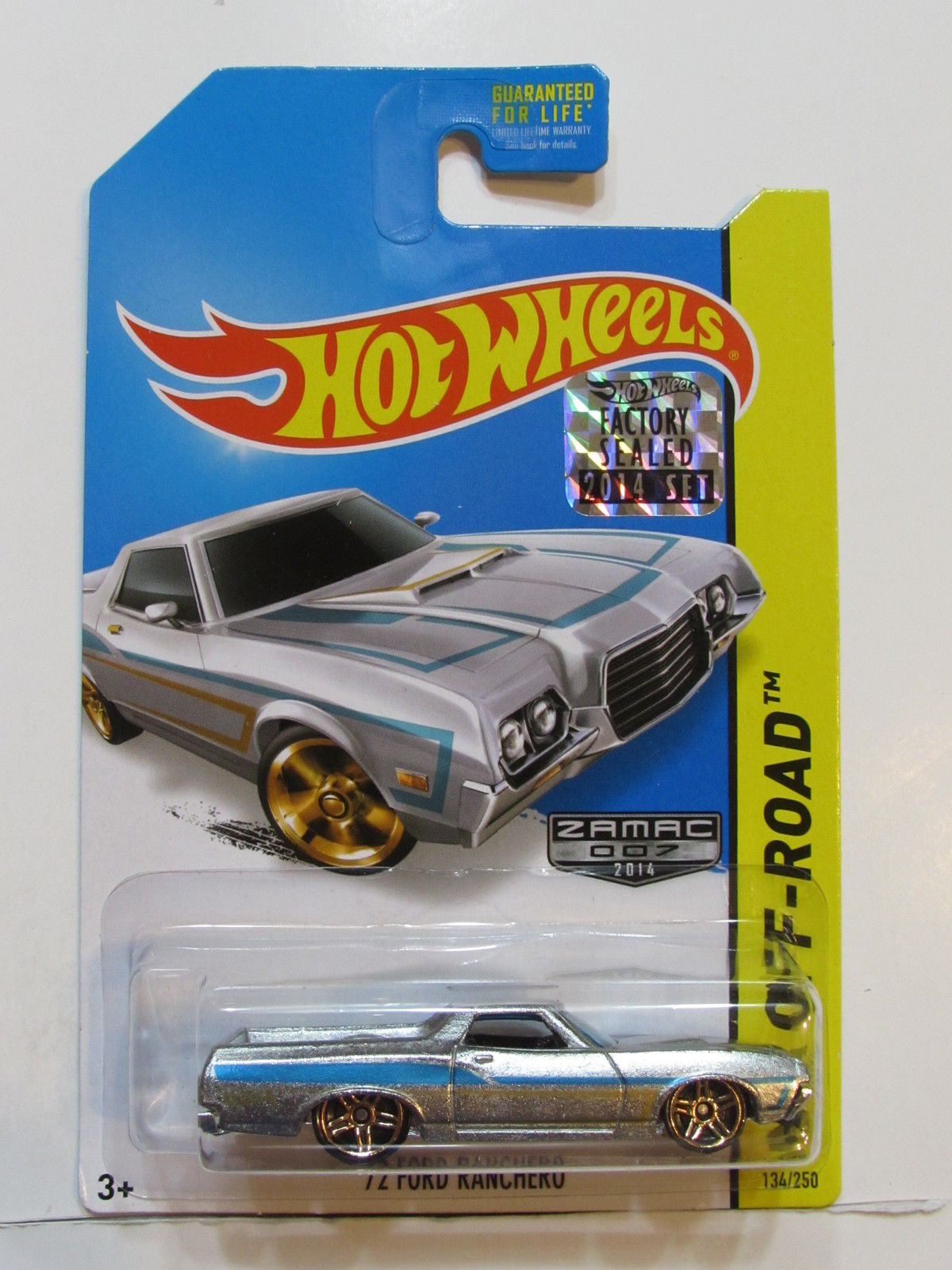 HOT WHEELS 2014 HW RACE '72 FORD RANCHERO ZAMAC FACTORY SEALED