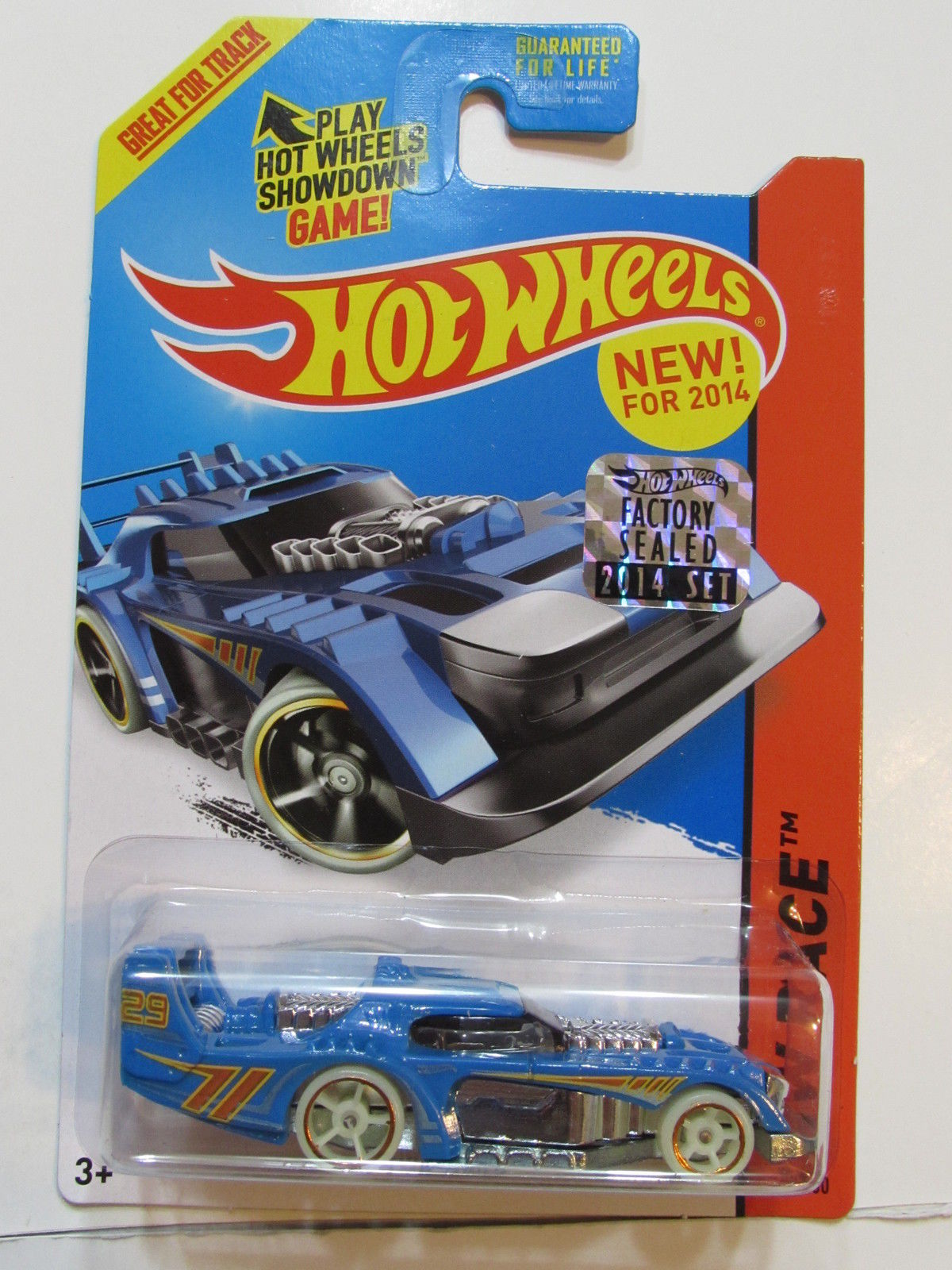 HOT WHEELS 2014 HW RACE TWO TIMER BLUE FACTORY SEALED