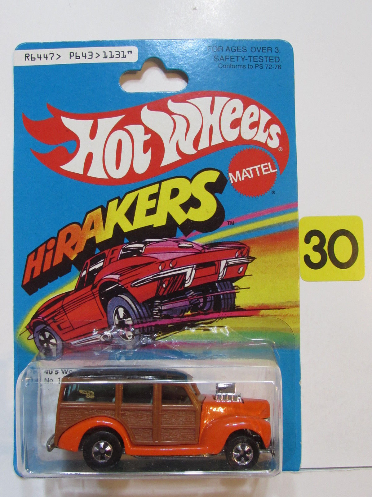 HOT WHEELS 1997 HIRAKERS 40'S WOODIE