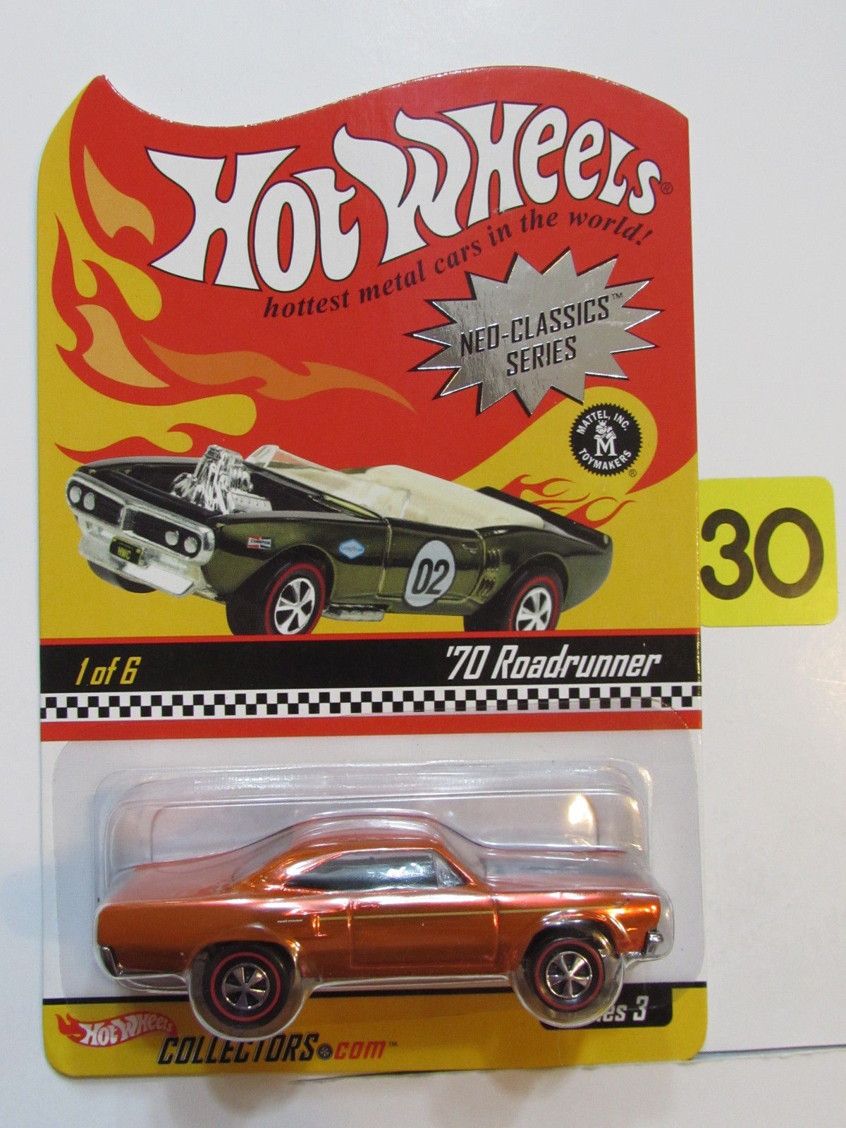 HOT WHEELS 2003 NEO-CLASSICS SERIES #1/6 SERIES 3 - '70 ROADRUNNER