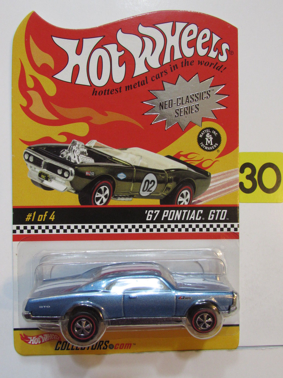 HOT WHEELS 2003 NEO-CLASSICS SERIES #1/4 - '67 PONTIAC GTO
