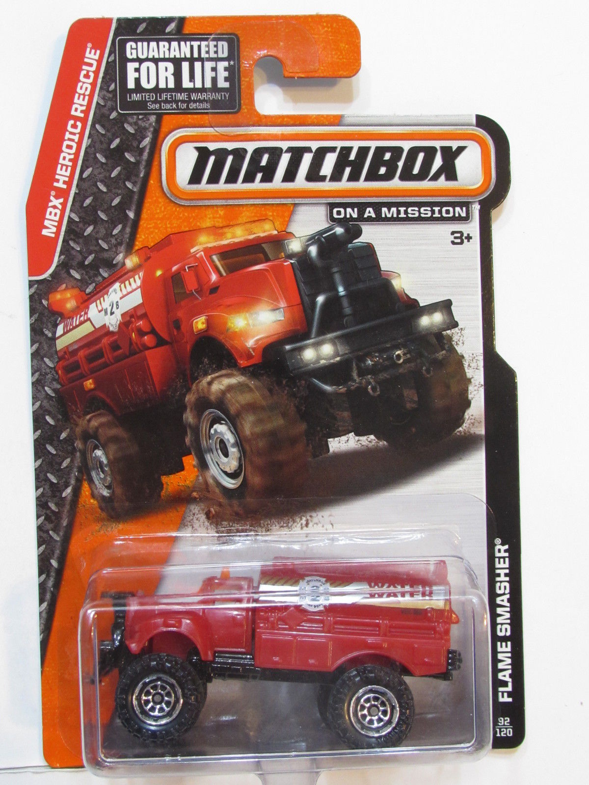 MATCHBOX 2013 ON A MISSION FLAME SMASHER RED