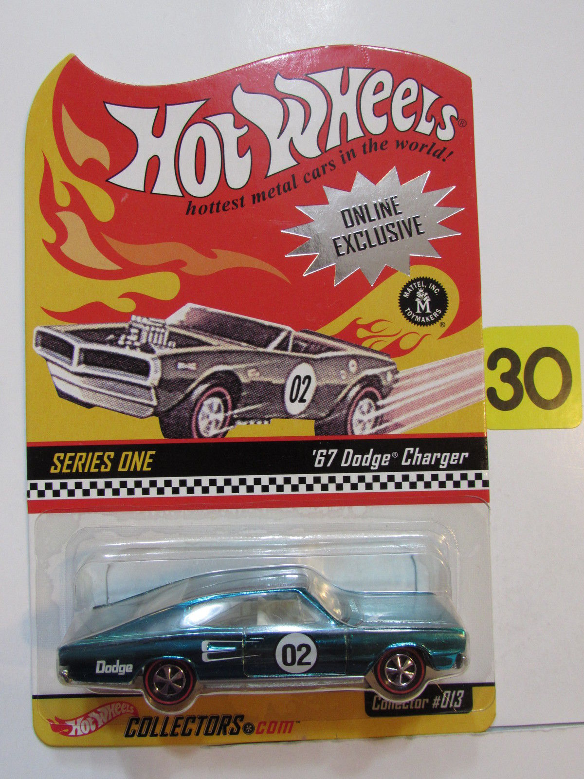 HOT WHEELS 2001 ONLINE EXCLUSIVE SERIES ONE COLLECTOR #013 - '67 DODGE CHARGER