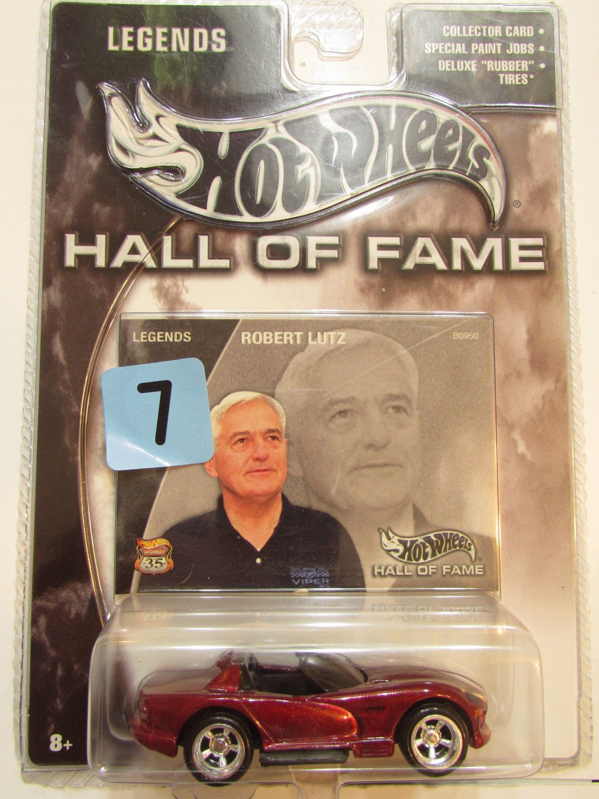 2002 HOT WHEELS LEGENDS - HALL OF FAME - ROBERT LUTZ - DODGE VIPER SRT