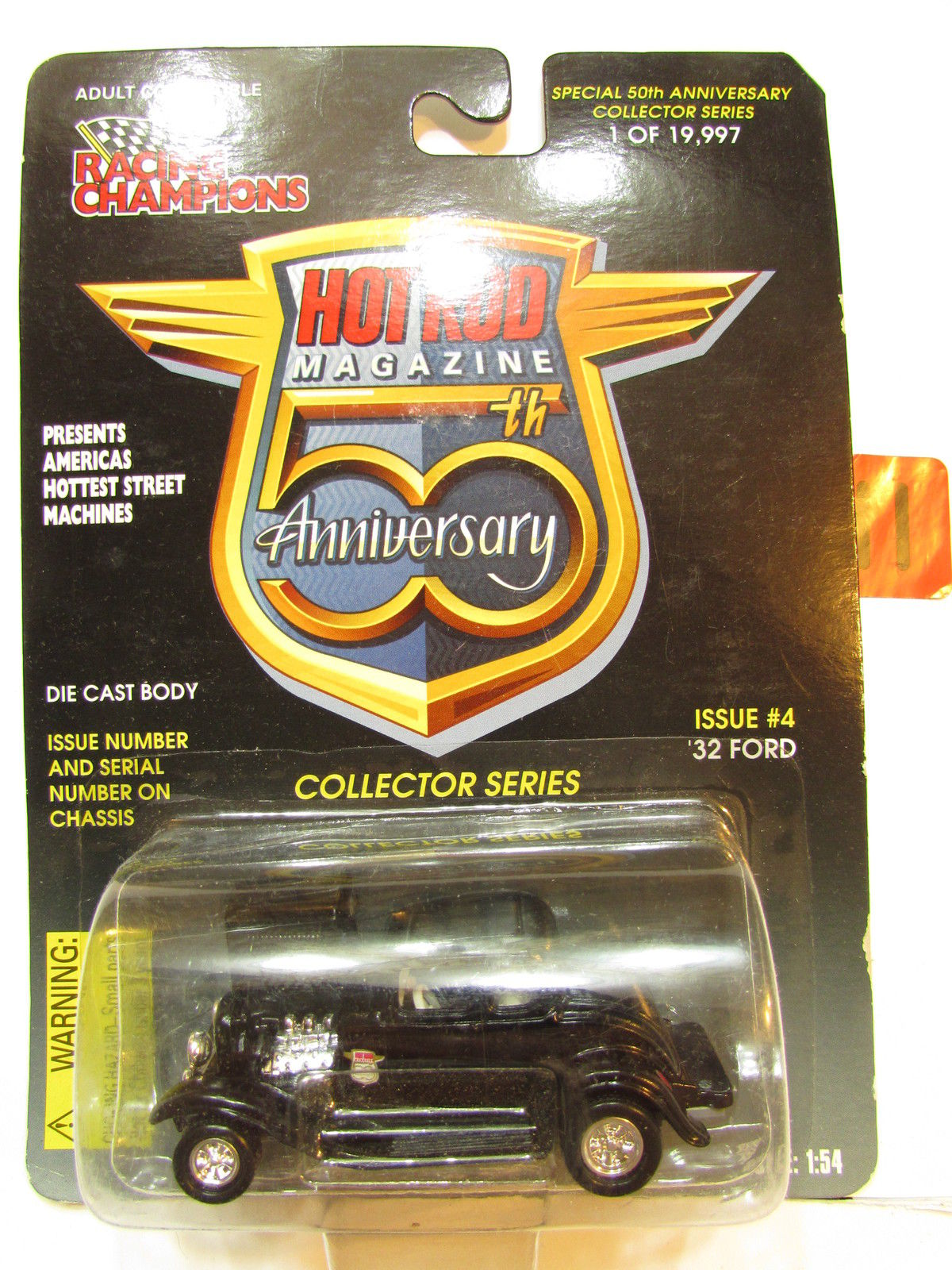 RACING CHAMPIONS HOT ROD ISSUE #4 - 50TH ANNIVERSARY '32 FORD SCALE 1:54