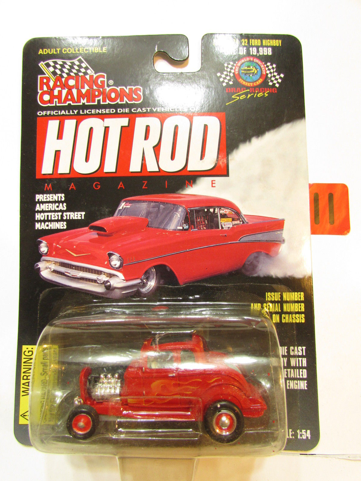 RACING CHAMPIONS HOT ROD ISSUE #74 - '32 FORD HIGHBOY 1:54 SCALE
