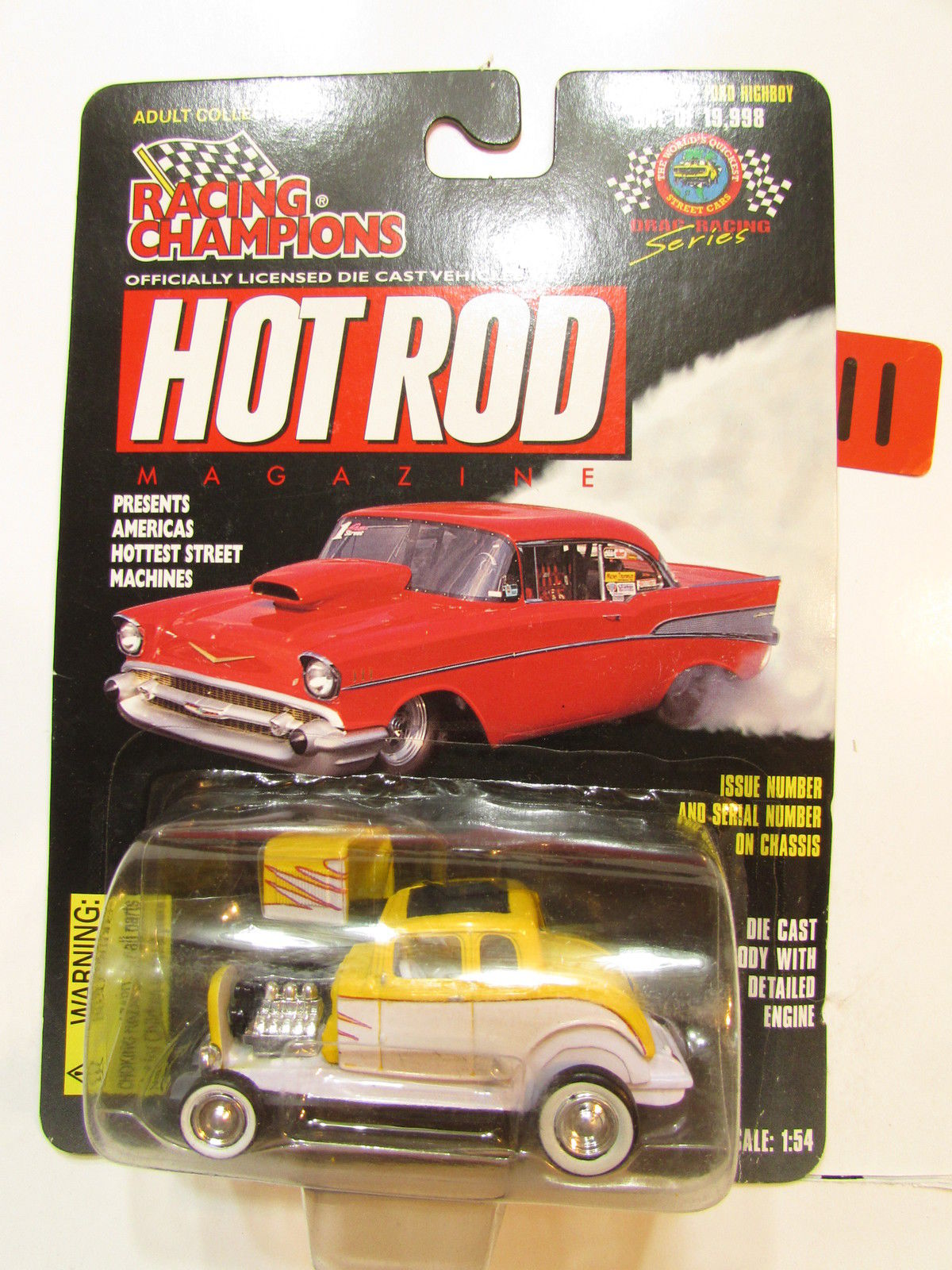 RACING CHAMPIONS HOT ROD ISSUE #74 - '32 FORD HIGHBOY 1:54 SCALE YELLOW