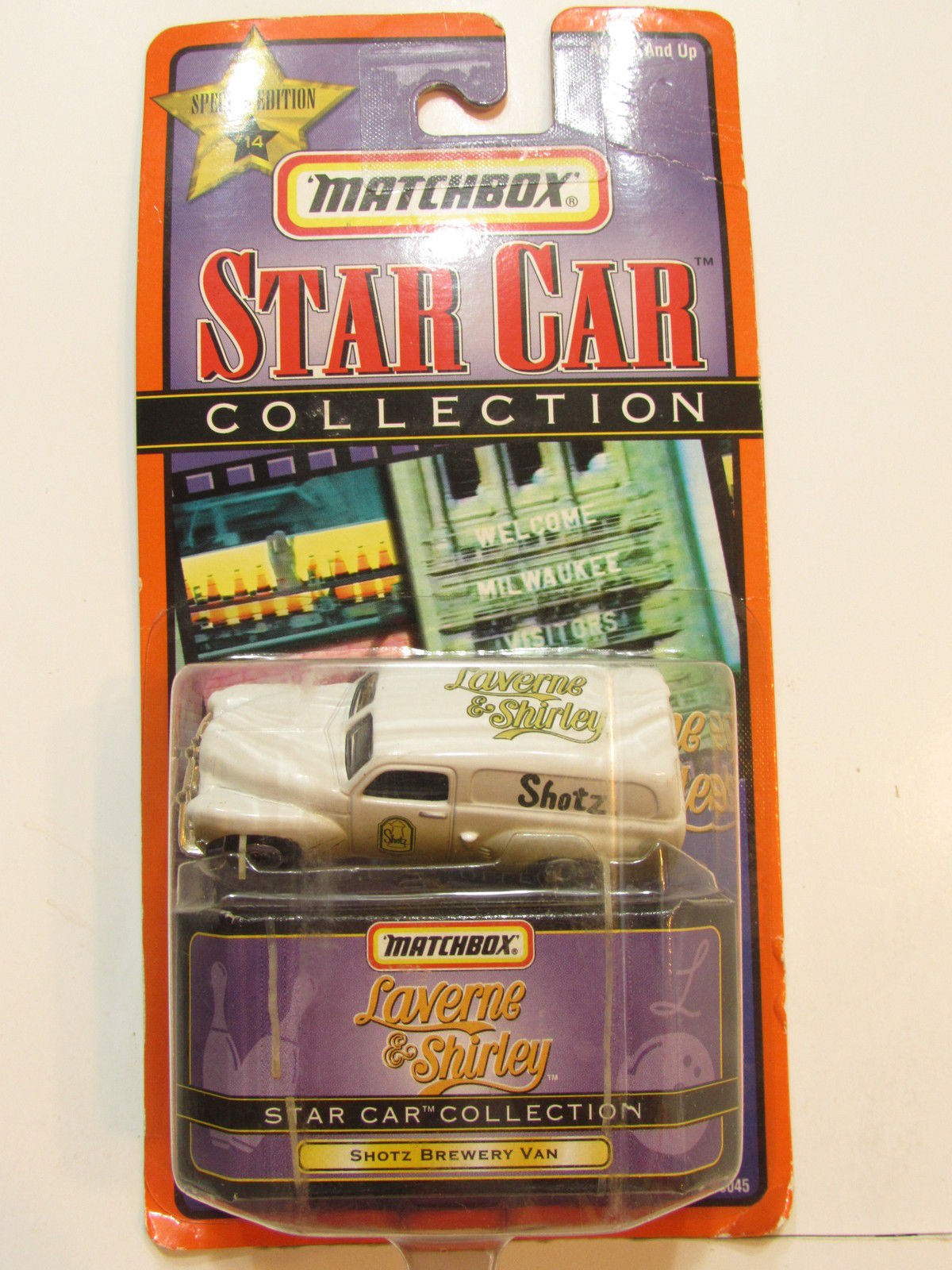 MATCHBOX STAR CAR COLLECTION #14 LAVERNE & SHIRLEY - SHORTZ BREWERY VAN