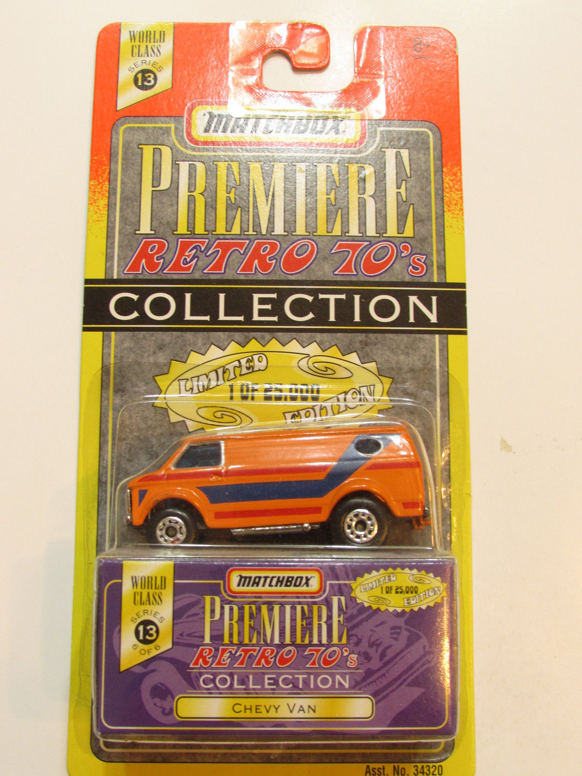 MATCHBOX PREMIERE COLLECTION RETRO 70'S - WORLD CLASS SERIES 13 - CHEVY VAN
