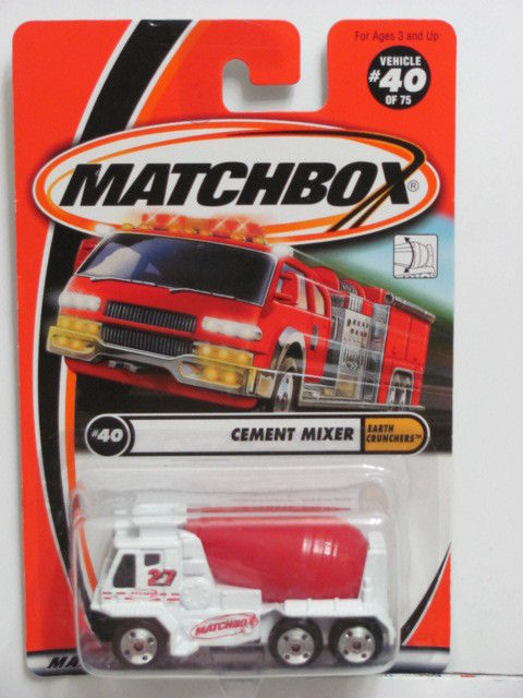 MATCHBOX 2001 CEMENT MIXER #40/75 EARTH CRUNCHERS
