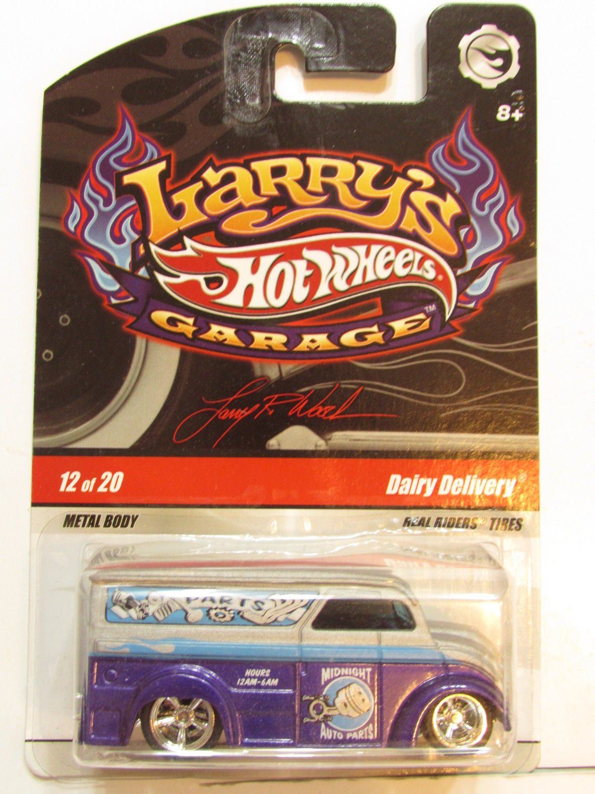 HOT WHEELS LARRY'S GARAGE #12/20 DAIRY DELIVERY PURPLE