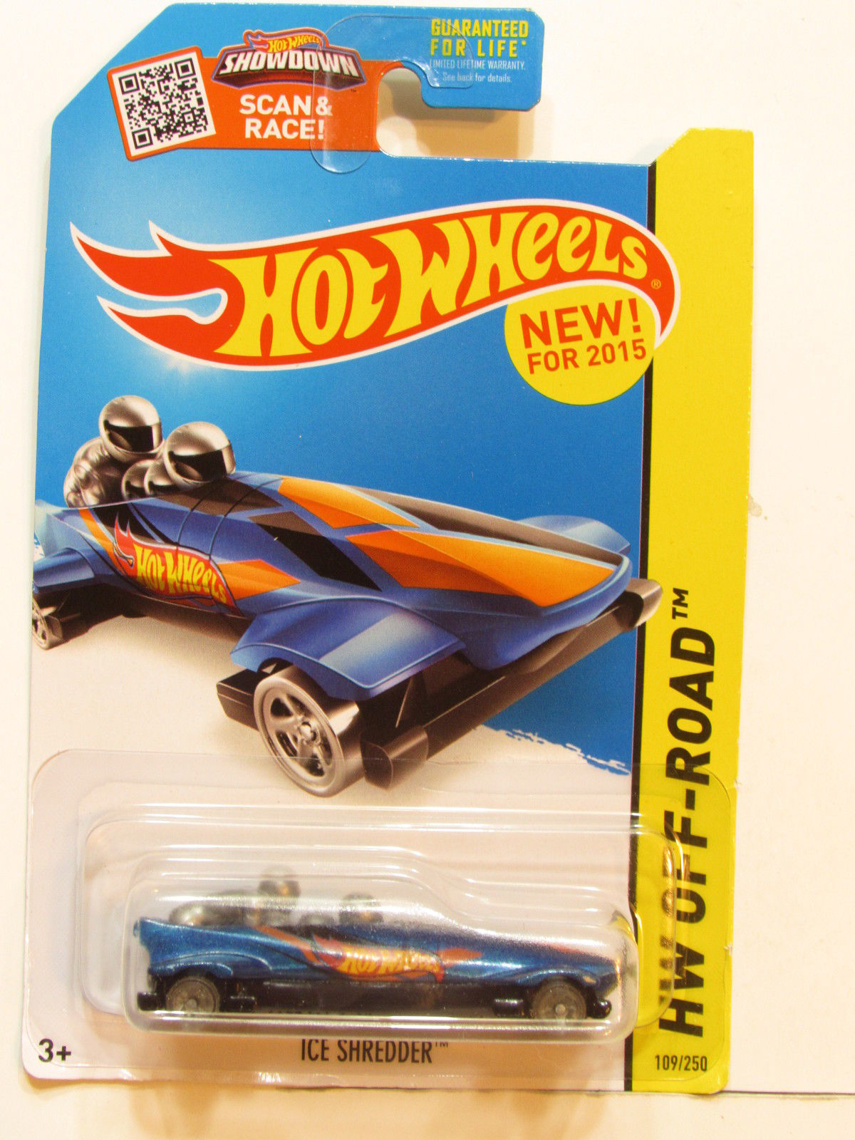 HOT WHEELS 2015 HW OFF ROAD - ICE MOUNTAIN - ICE SHREDDER