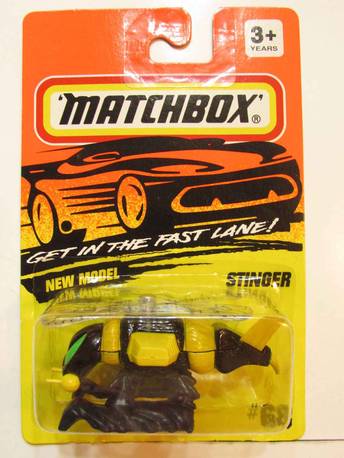 MATCHBOX 1994 #68 STINGER ANIMALS YELLOW