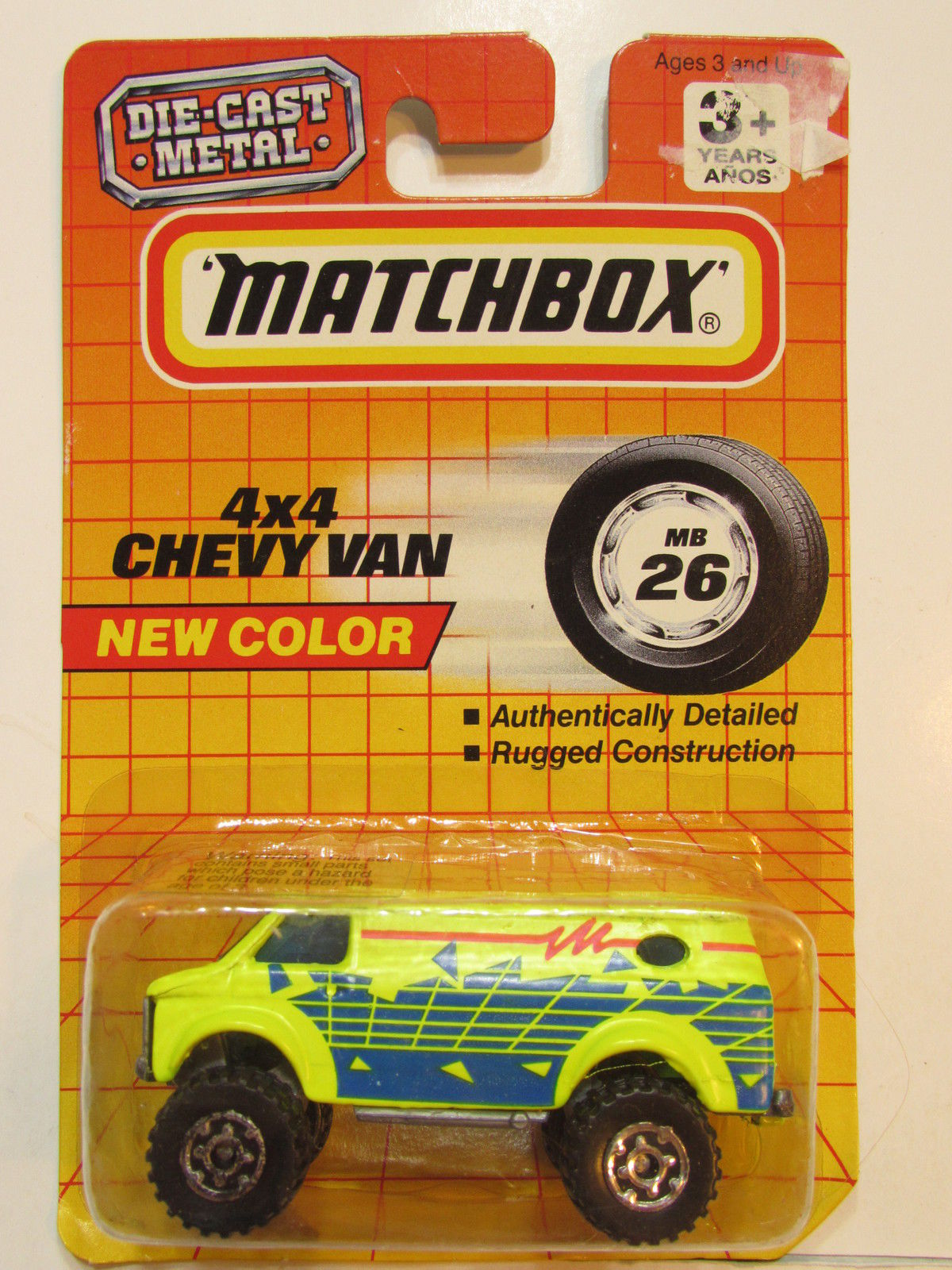 MATCHBOX 1993 NEW COLOR 4X4 CHEVY VAN