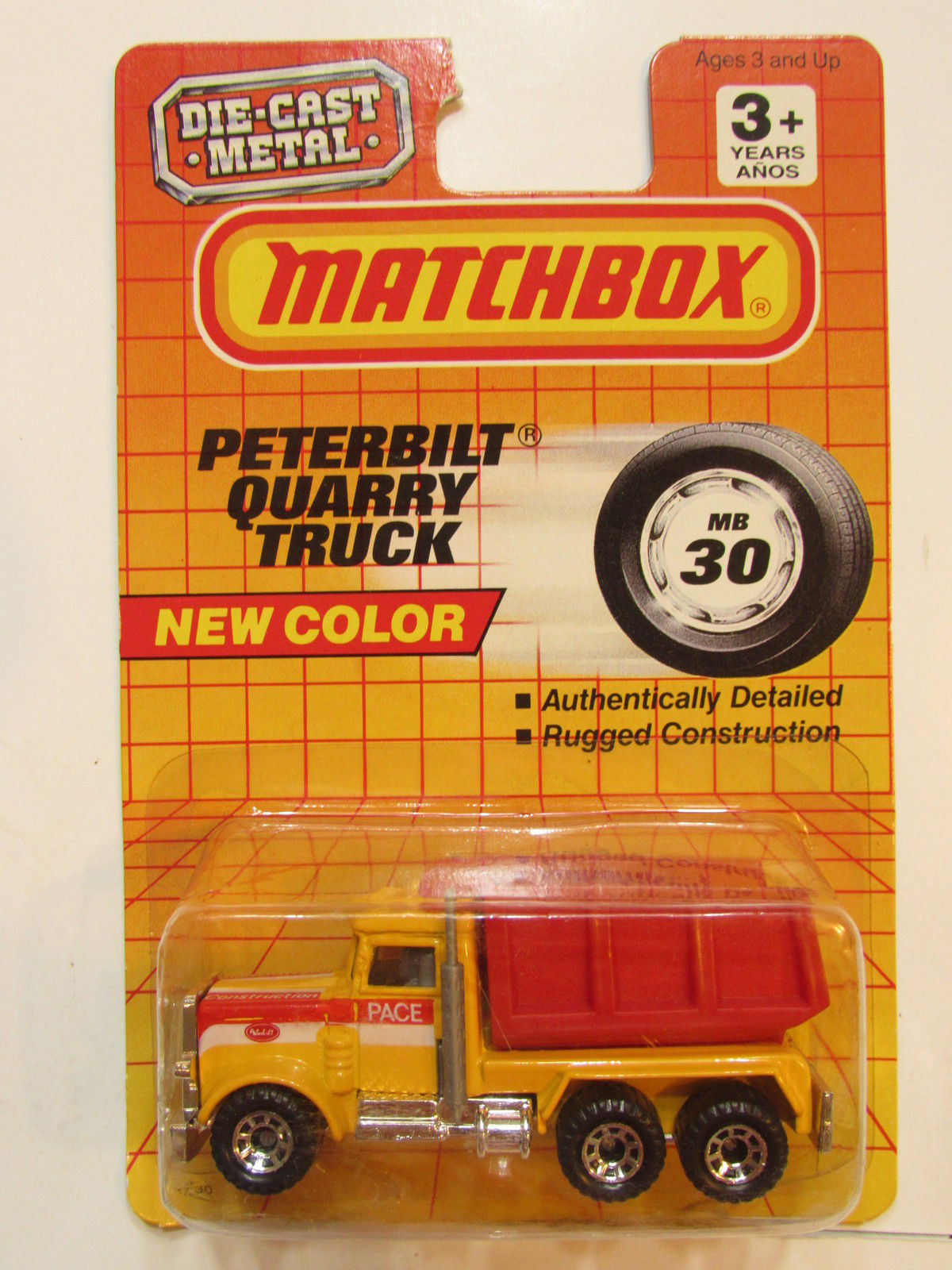MATCHBOX 1992 NEW COLOR PETERBILT QUARRY TRUCK