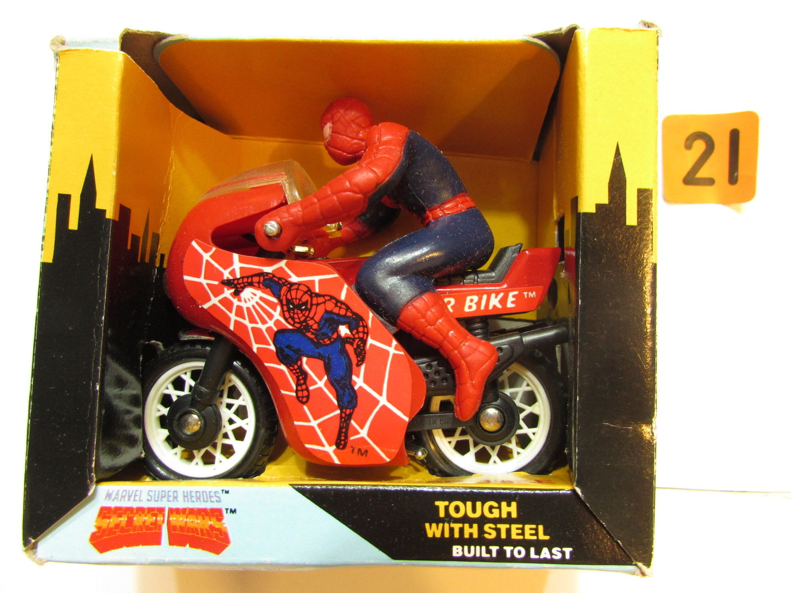 BUDDY L 1983 MARVEL SUPER HEROES SECRET WARS - SPIDER BIKE E+
