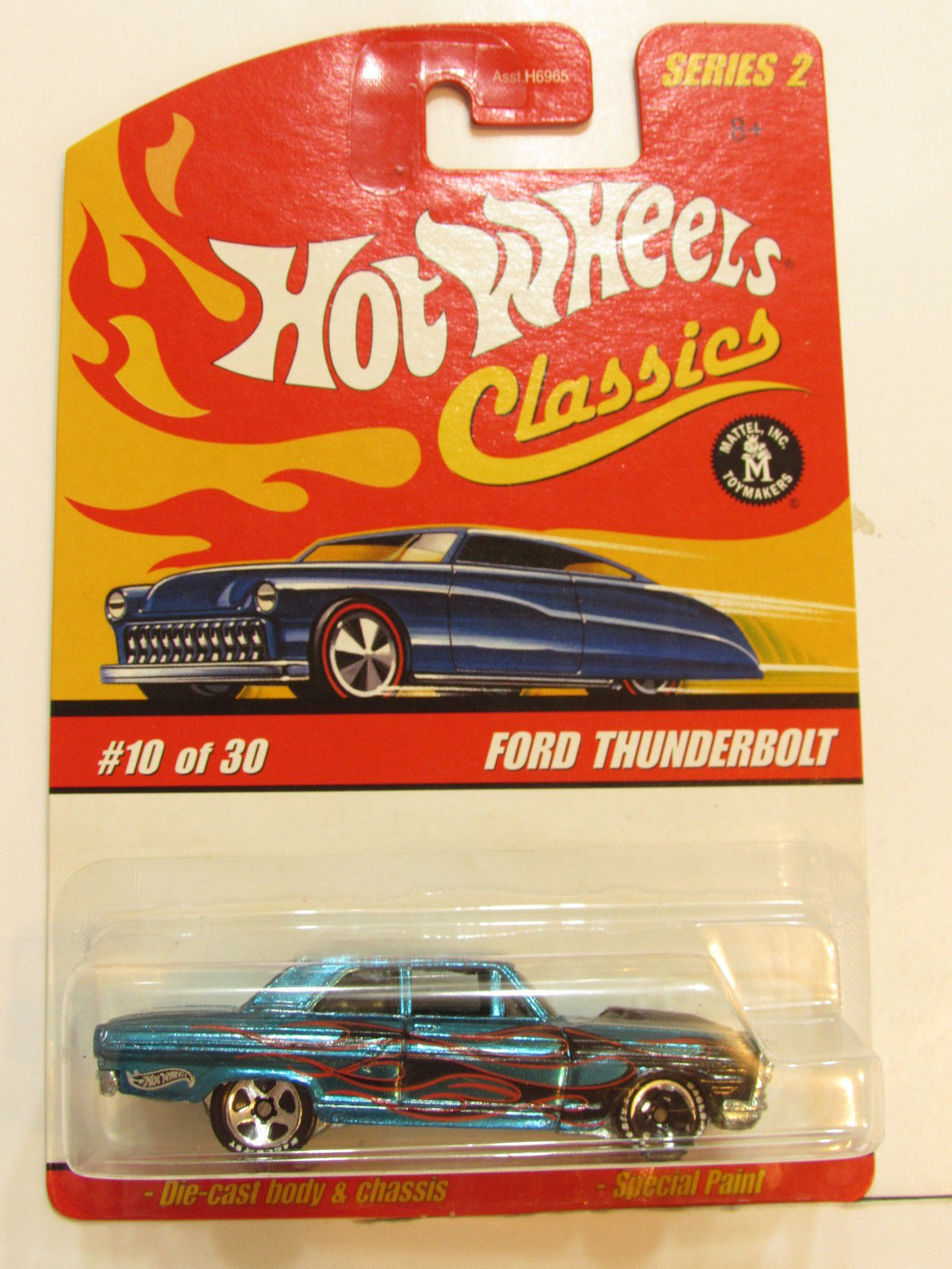 HOT WHEELS CLASSICS SERIES 2 #10/30 FORD THUNDERBOLT - WHEELS ERROR E+