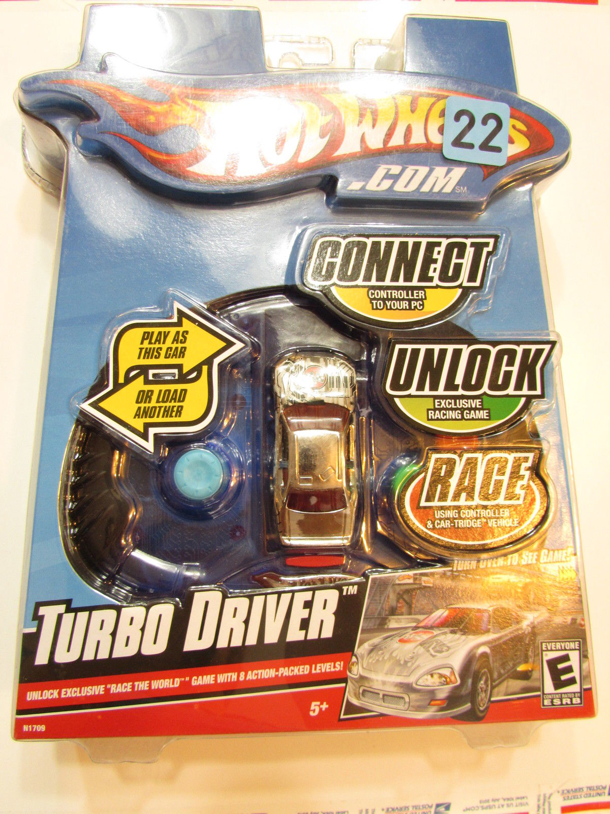 HOT WHEELS 2008 TURBO DRIVER - CONNECT UNLOCK & RACE