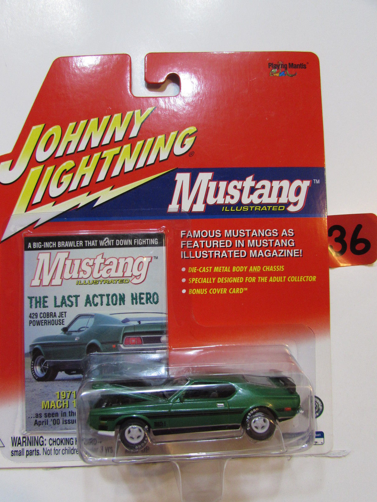 JOHNNY LIGHTNING 2001 MUSTANG ILLUSTRATED - 1971 MACH 1 WHITE LIGHTNING