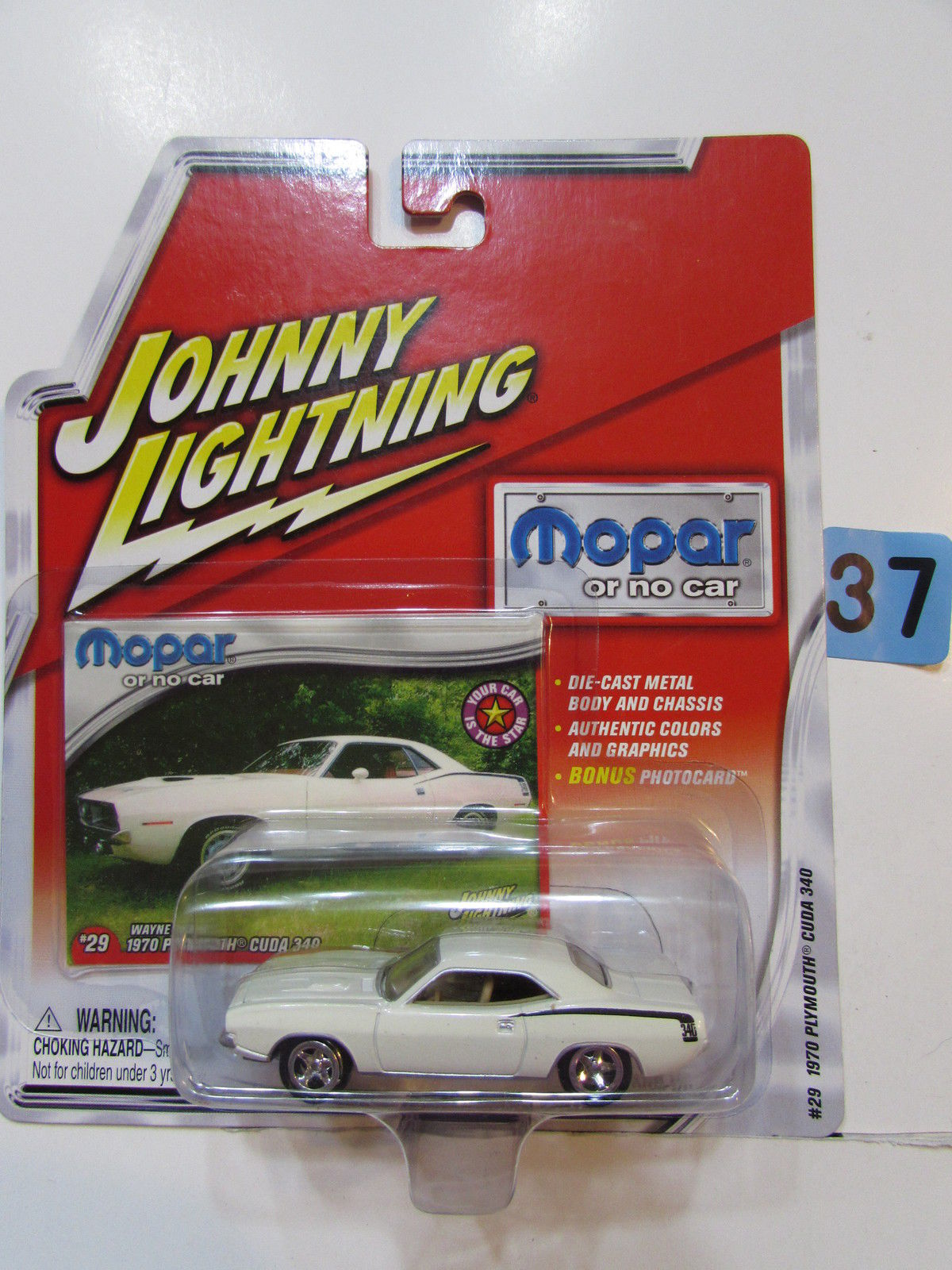 JOHNNY LIGHTNING 2004 MOPAR WAYNE MANN'S 1970 PLYMOUTH CUDA 340
