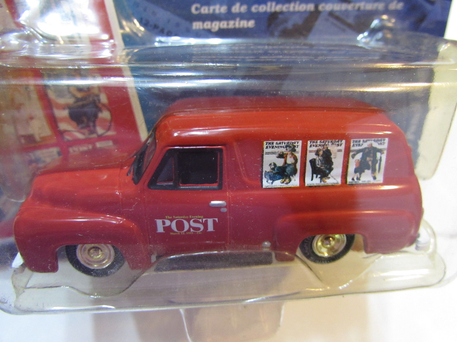 JOHNNY LIGHTNING SATURDAY EVENING POST 1955 FORD PANEL DELIVERY WHITE LIGHTNING