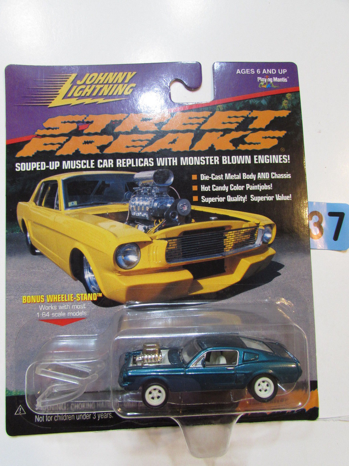JOHNNY LIGHTNING 1999 STREET FREAKS 1967 SHELBY WHITE LIGHTNING