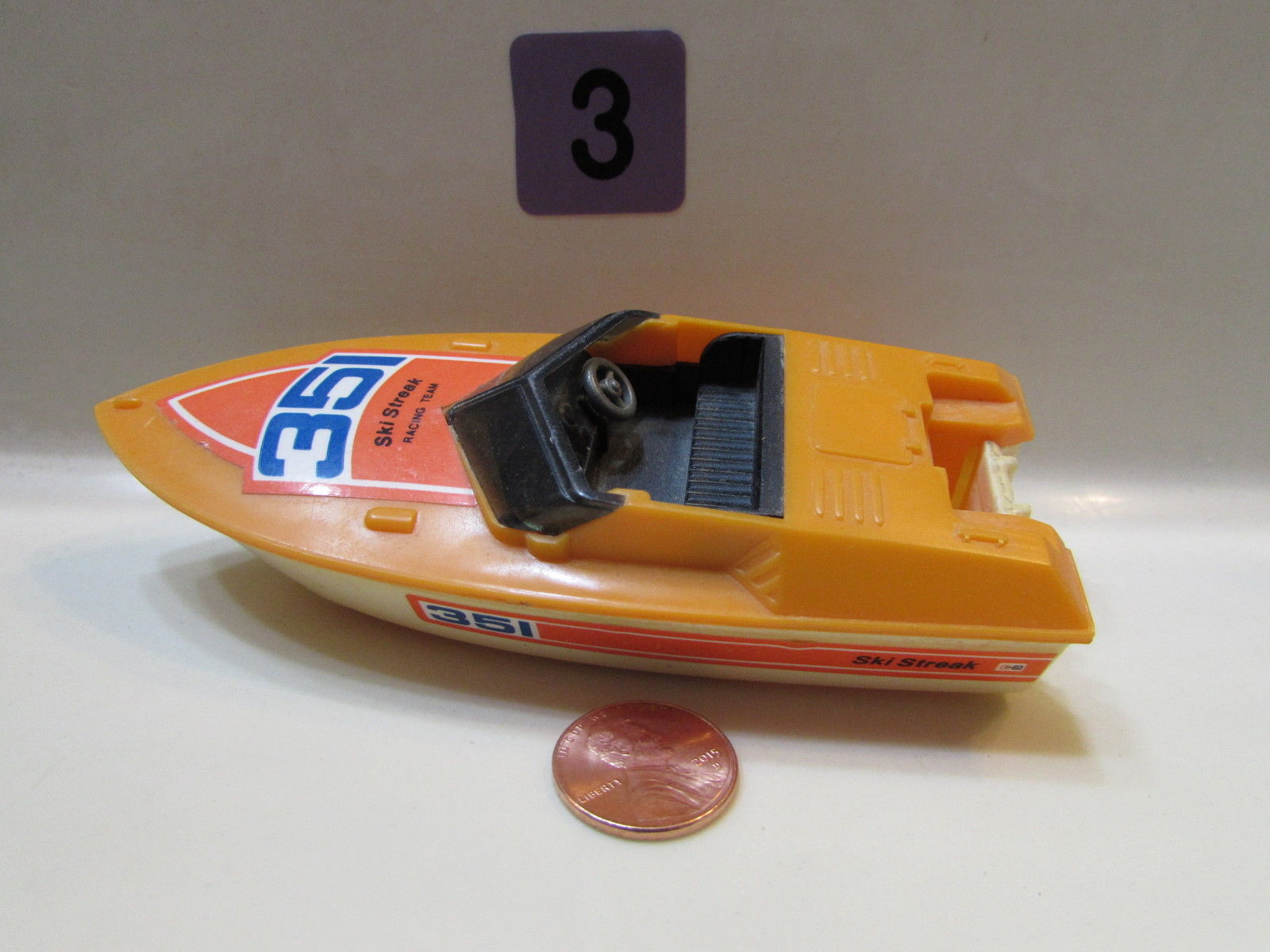 1976 TOMY - 351 SKI STREAK RACING TEAM / NO ENGINE - MADE IN TAIWAN