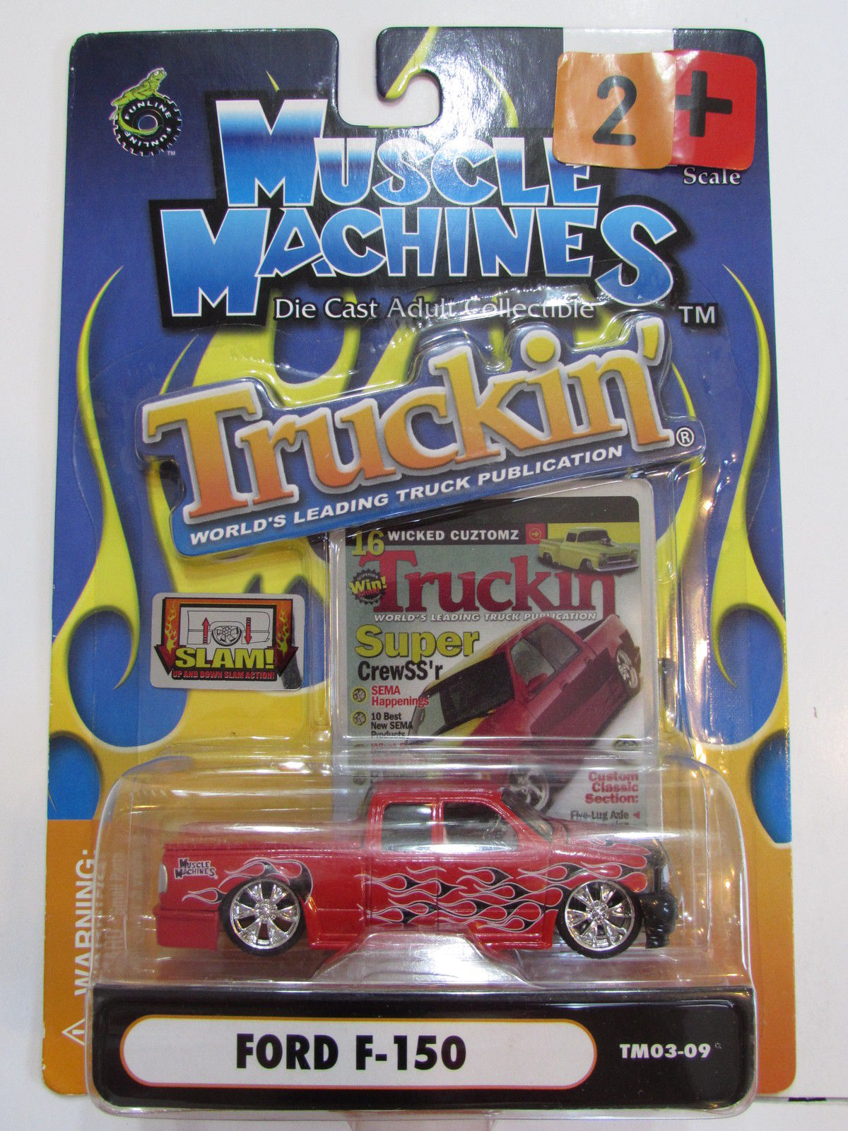 MUSCLE MACHINES TRUCKIN' FORD F - 150 SCALE 1:64