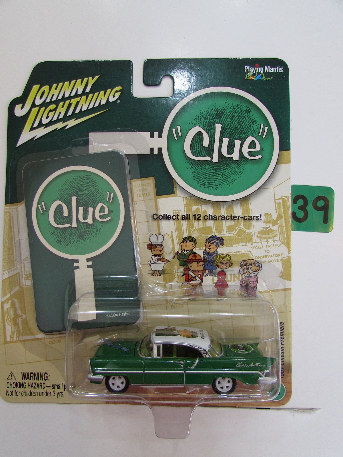 JOHNNY LIGHTNING 2004 CLUE MR.GREEN 1957 LINCOLN PREMIERE WHITE LIGHTNING