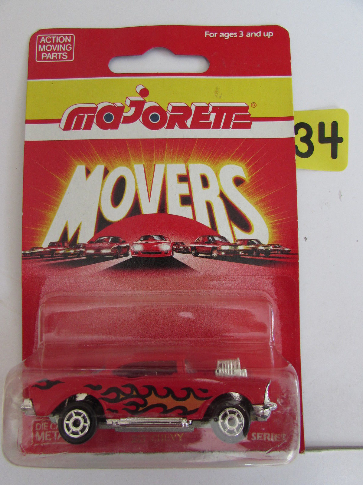 MAJORETTE MOVERS ACTION MOVING PARTS - 223 CHEVY DIECAST METAL - 200 SERIES