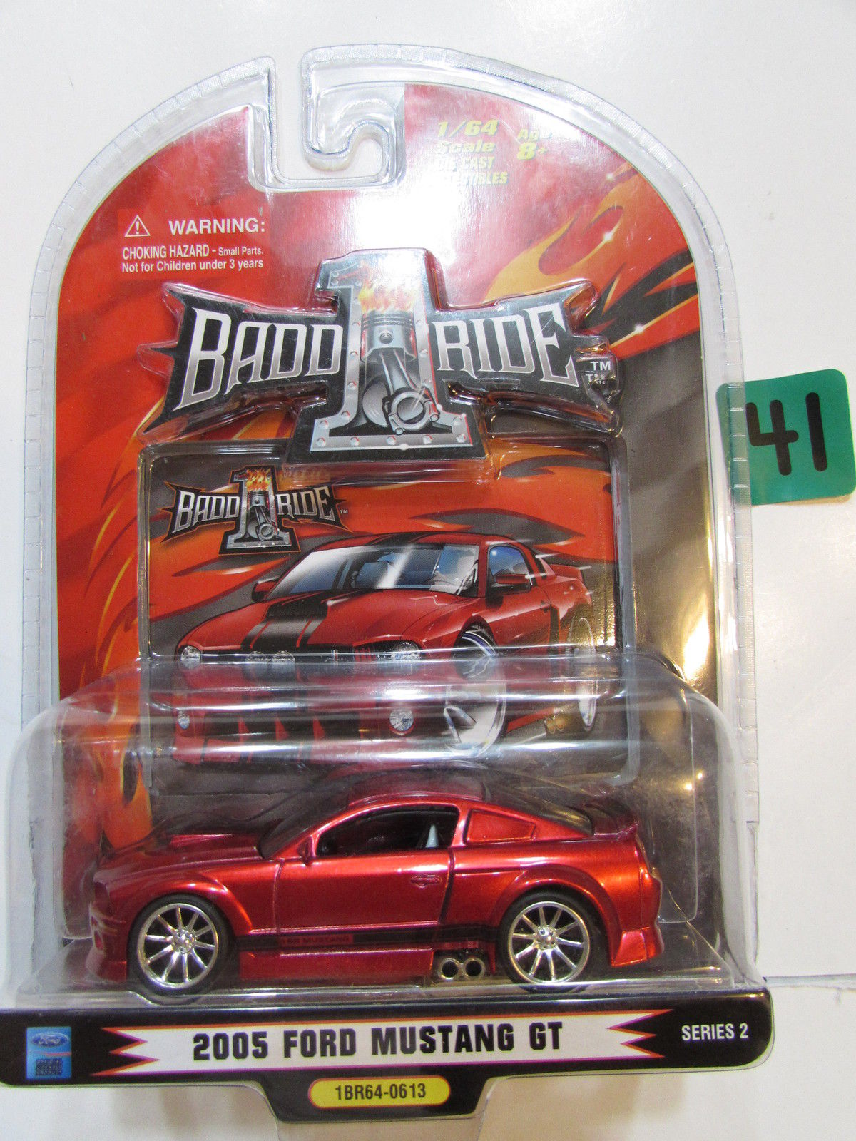 NASCAR 1 BADD RIDE 2005 FORD MUSTANG GT RED SERIES 2 SCALE 1:64
