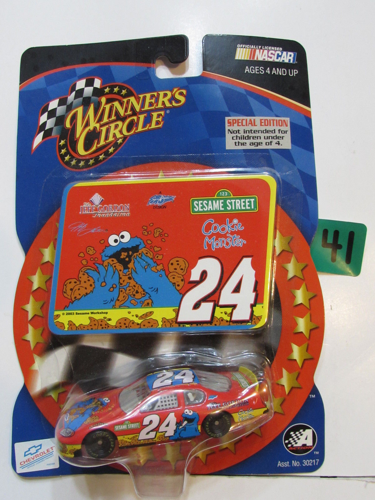 NASCAR WINNER'S CIRCLE 2003 JEFF GORDON #24 SESAME STREET COOKIE MONSTER