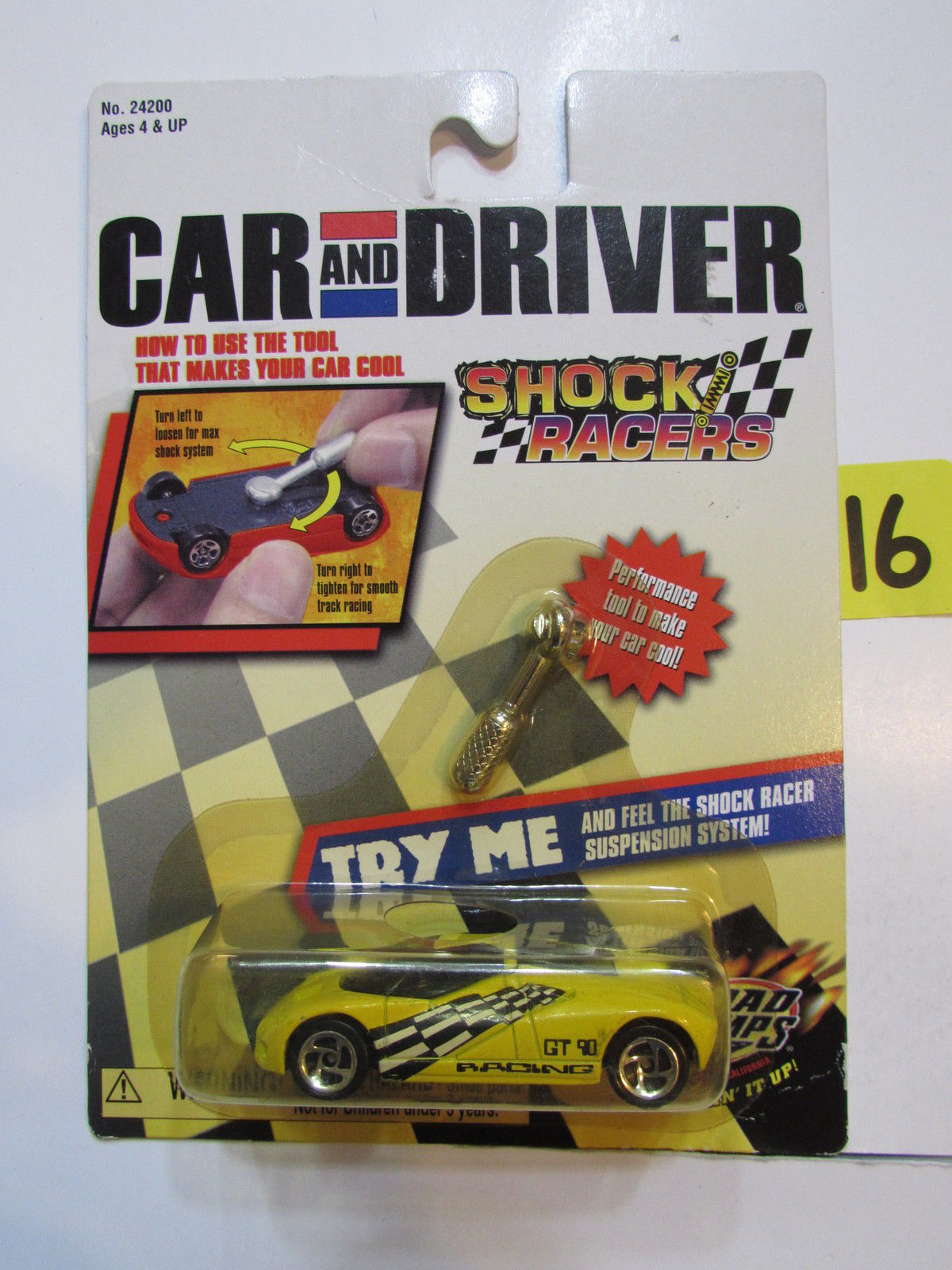 ROAD CHAMPS CAR AND DRIVER SHOCK RACERS W/ TOOL