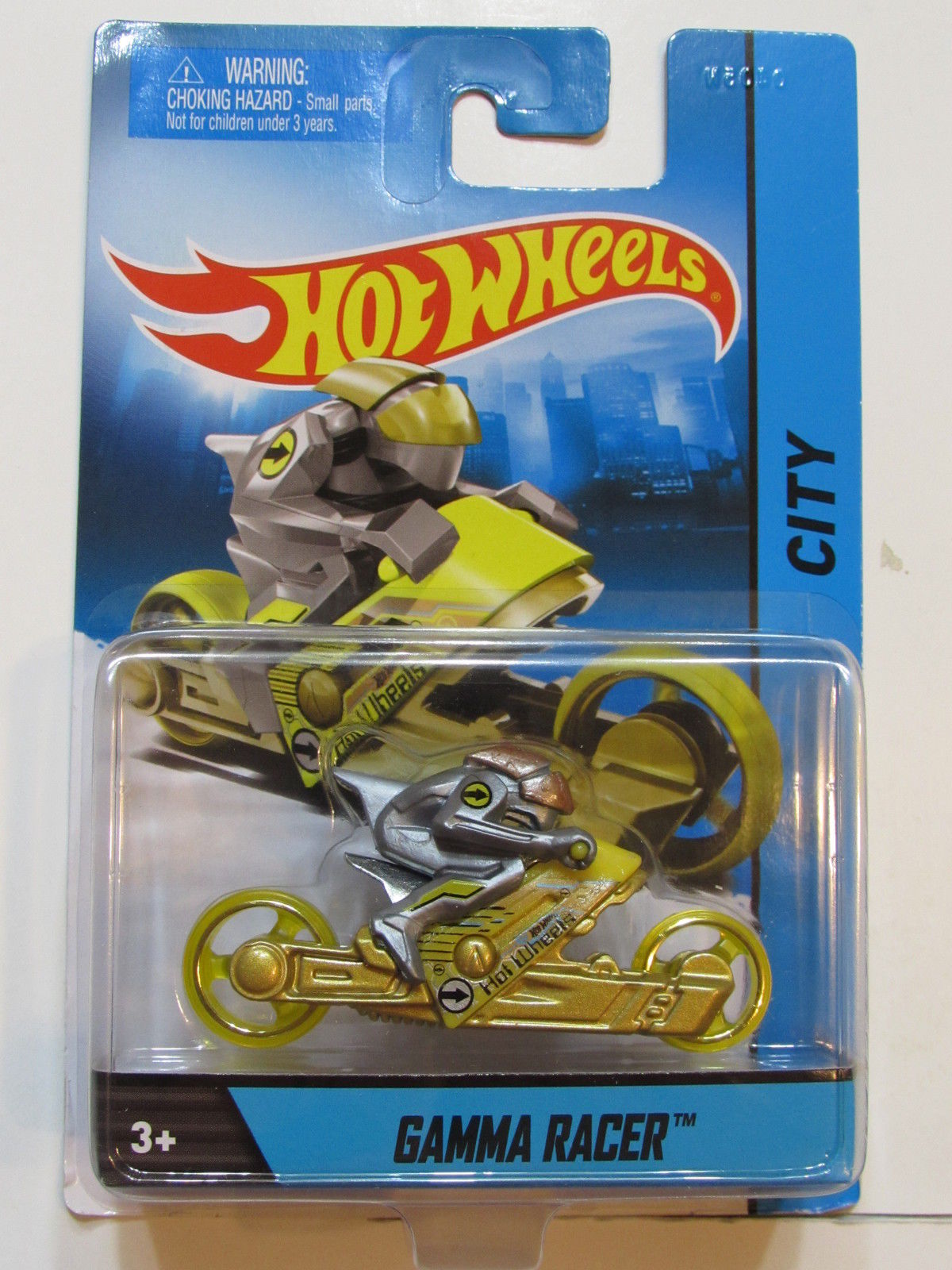 HOT WHEELS 2013 1:64 SCALE CITY - GAMMA RACER YELLOW