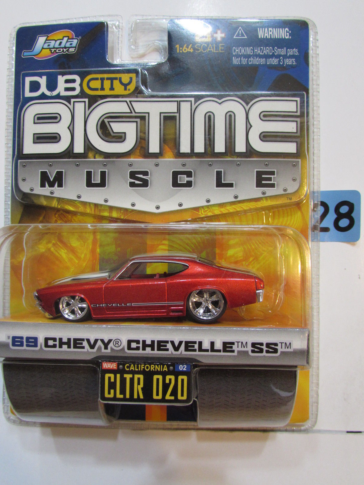 JADA DUB CITY BIGTIME MUSCLE '69 CHEVY CHEVELLE SS CLTR 020 RED E+
