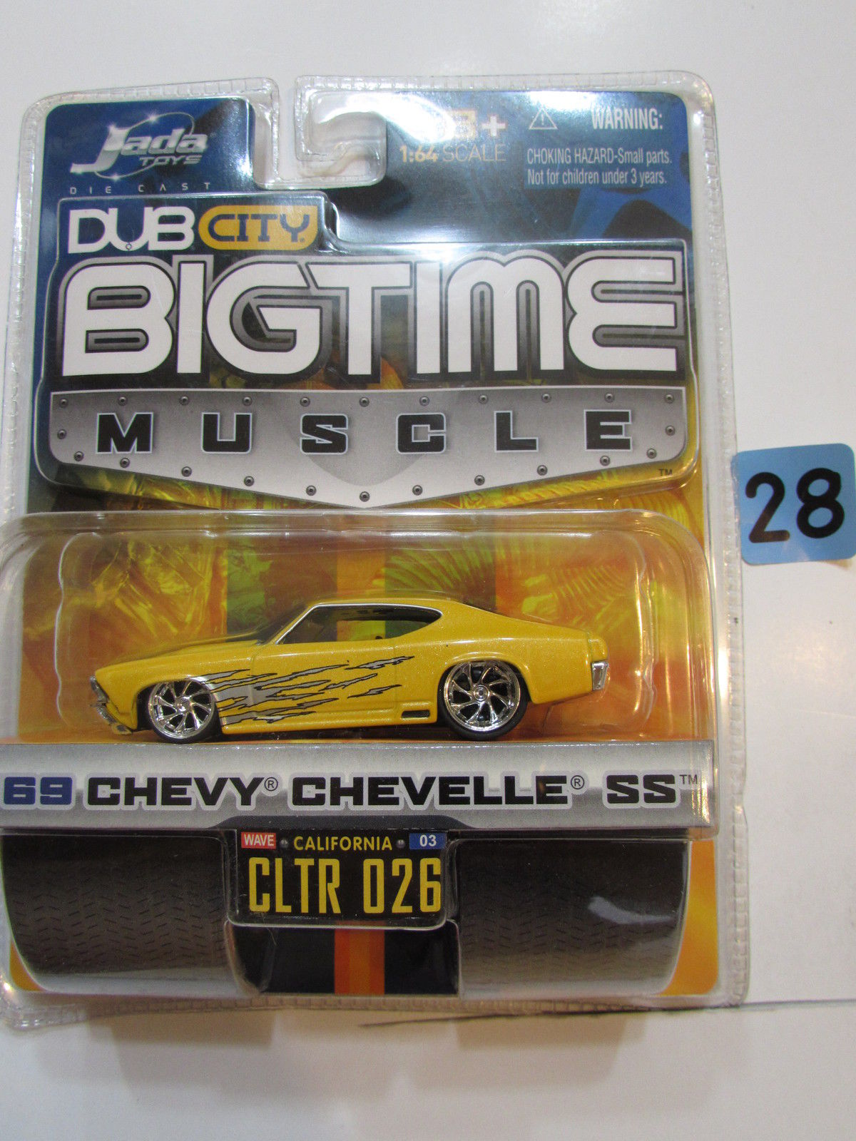 JADA DUB CITY BIGTIME MUSCLE '69 CHEVY CHEVELLE SS CLTR 026 YELLOW