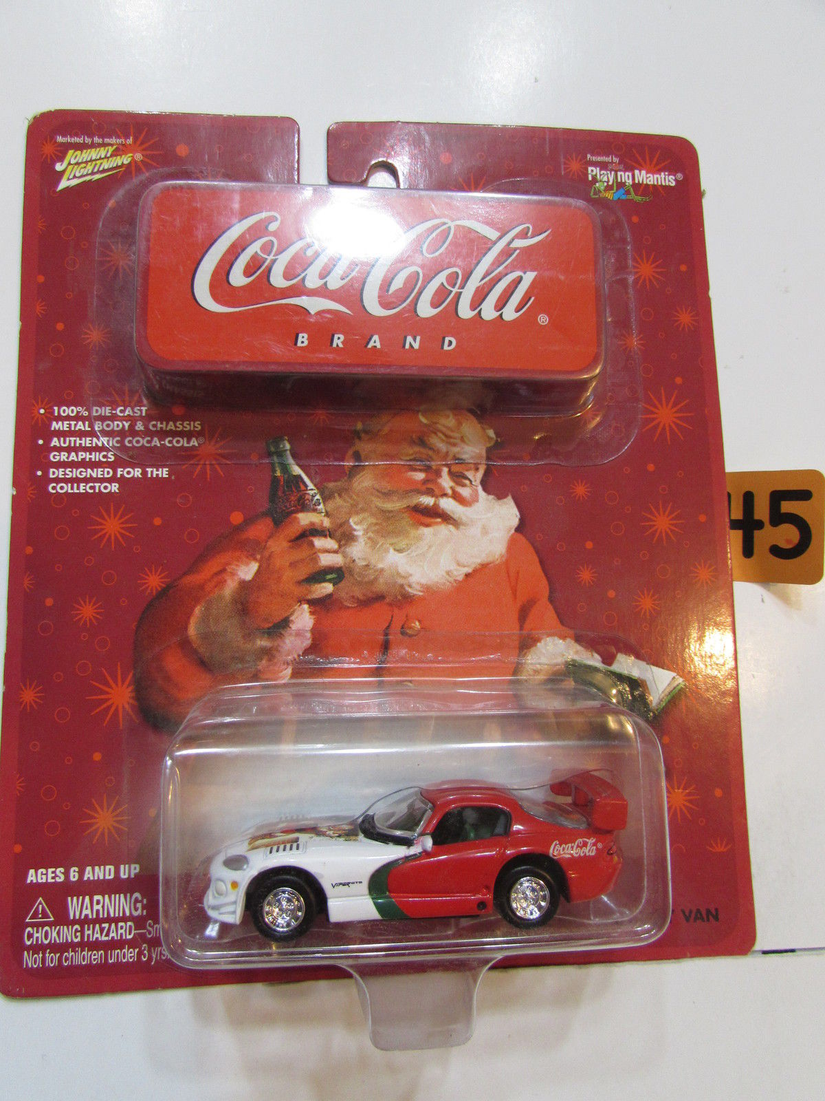 JOHNNY LIGHTNING COCA - COLA - DODGE VIPER ON GMC DELIVERY VAN CARD - ERROR
