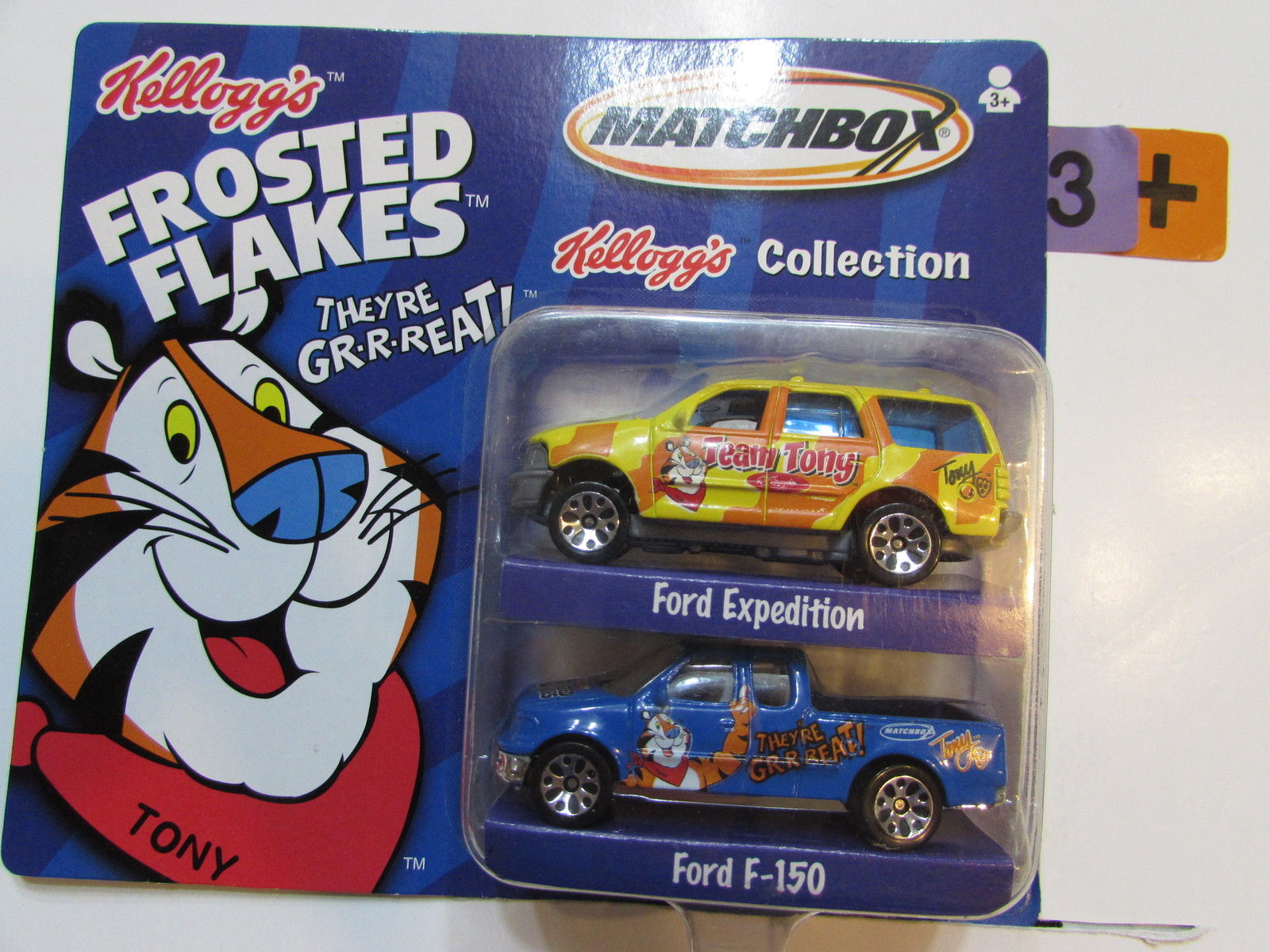 MATCHBOX 2 CAR PACK KELLOGG'S COLLECTION FORD EXPEDITION & FORD F - 150