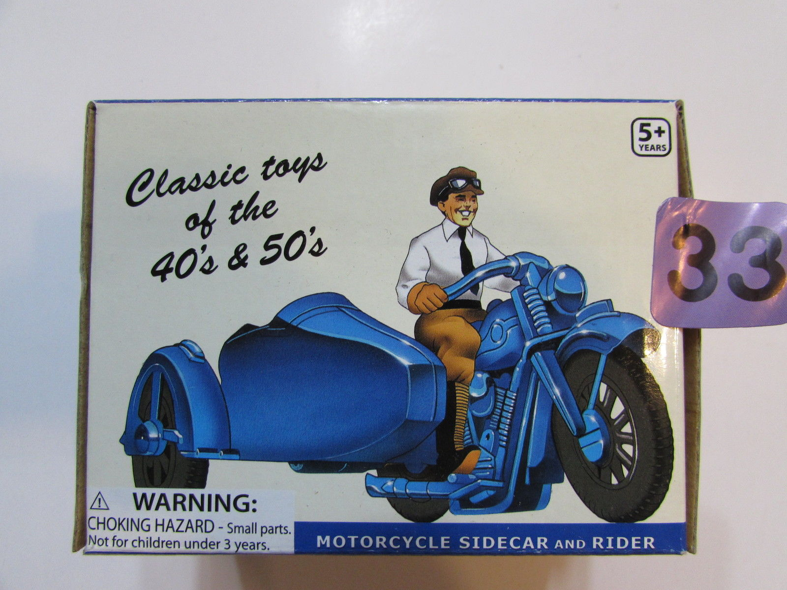 TOYSMITH 2008 MOTORCYCLE SIDECAR AND RIDER SCALE 1:24 DELUXE PLASTIC