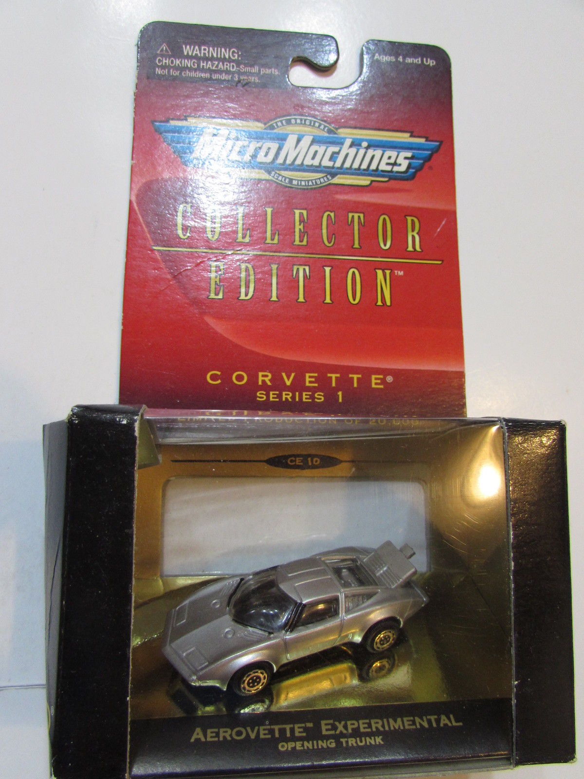 GALOOB MICRO MACHINES SERIES 1 CORVETTE AEROVETTE EXPERIMENTAL OPENING TRUNK